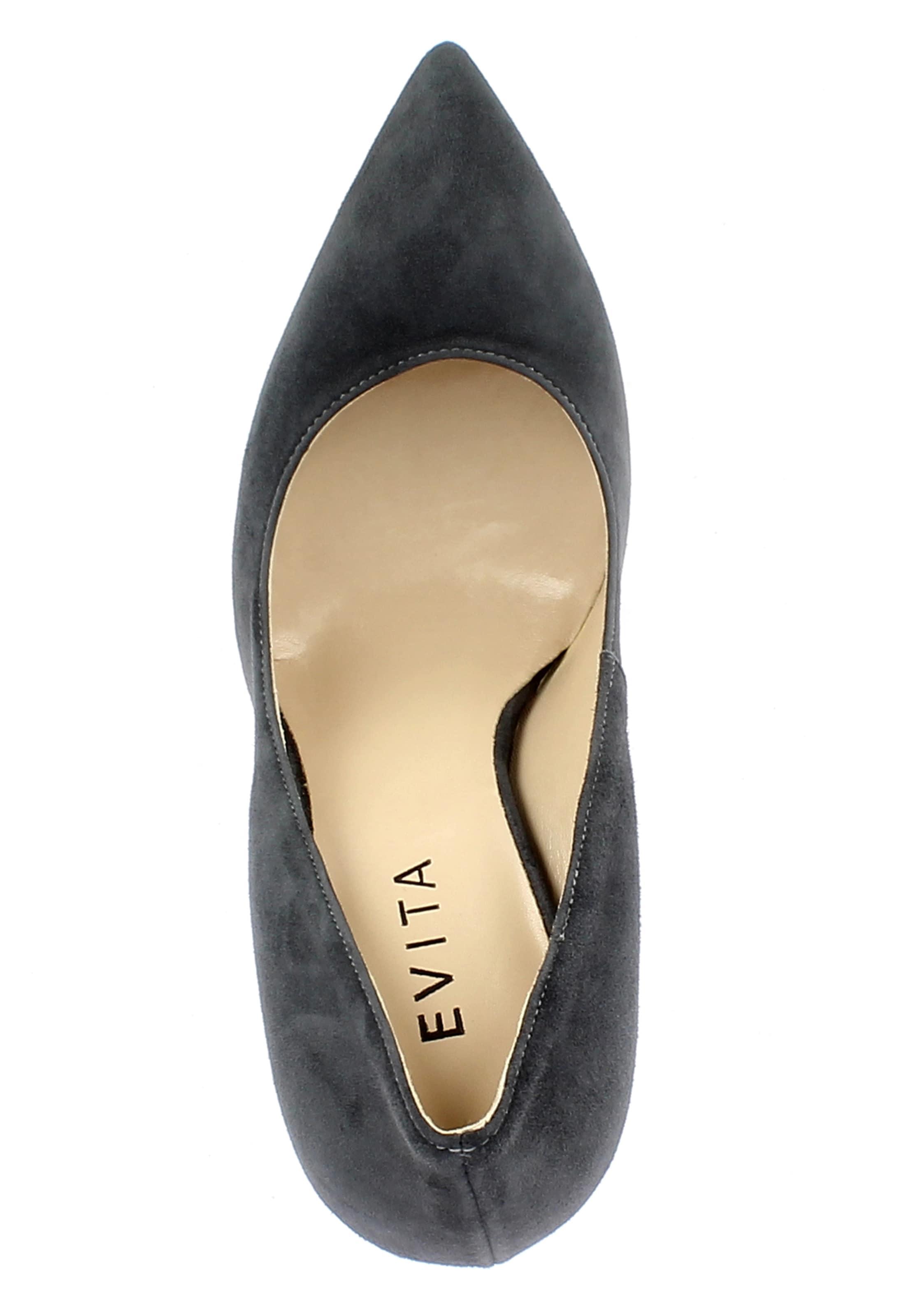 Escarpins Evita Evita En Anthracite En Escarpins Anthracite 5R43ALjq