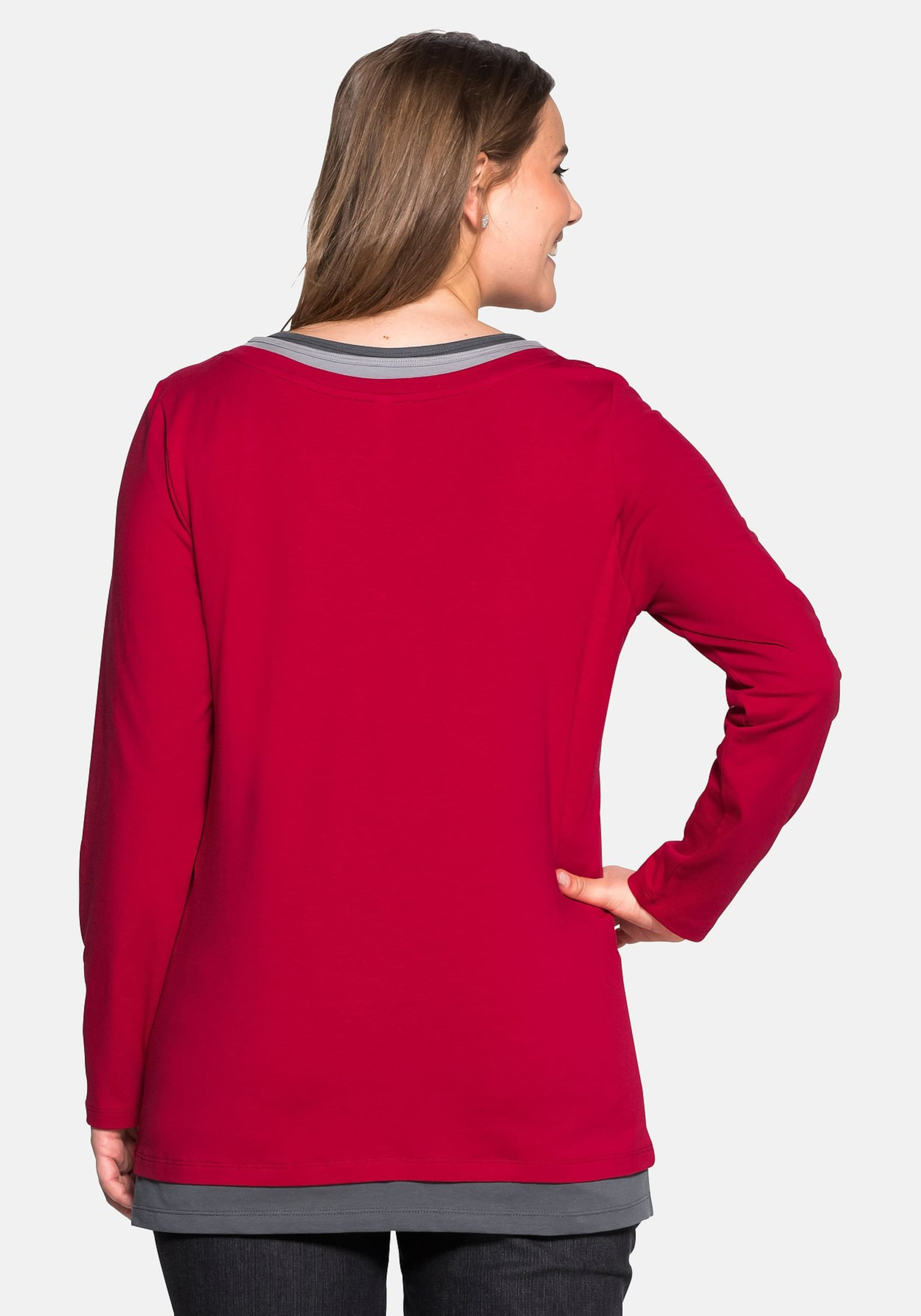 In Sheego Shirt GrauGraphit Casual Rot 4L5j3ARq