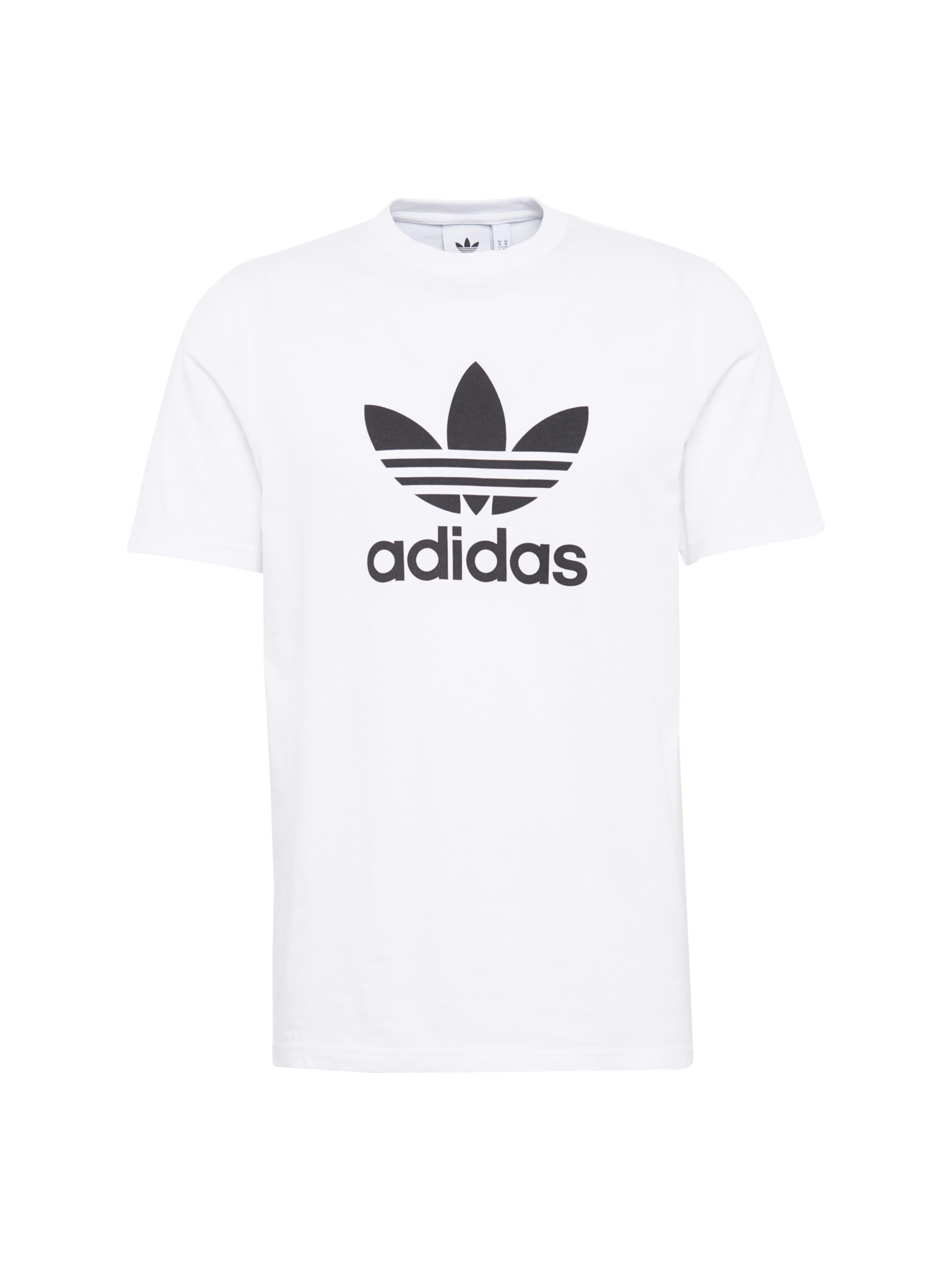 shirt T 'trefoil' NoirBlanc Adidas En Originals PlkZiwOXuT