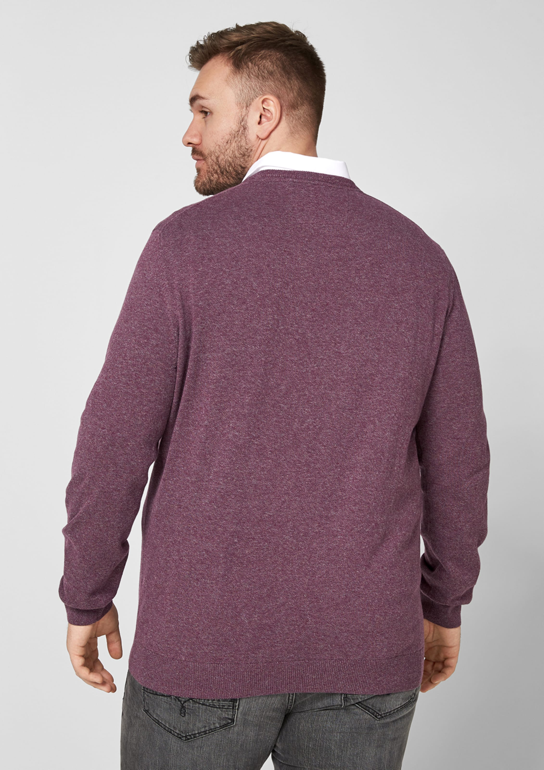 Red Pullover Blutrot S oliver Label In OkXiuPTZ