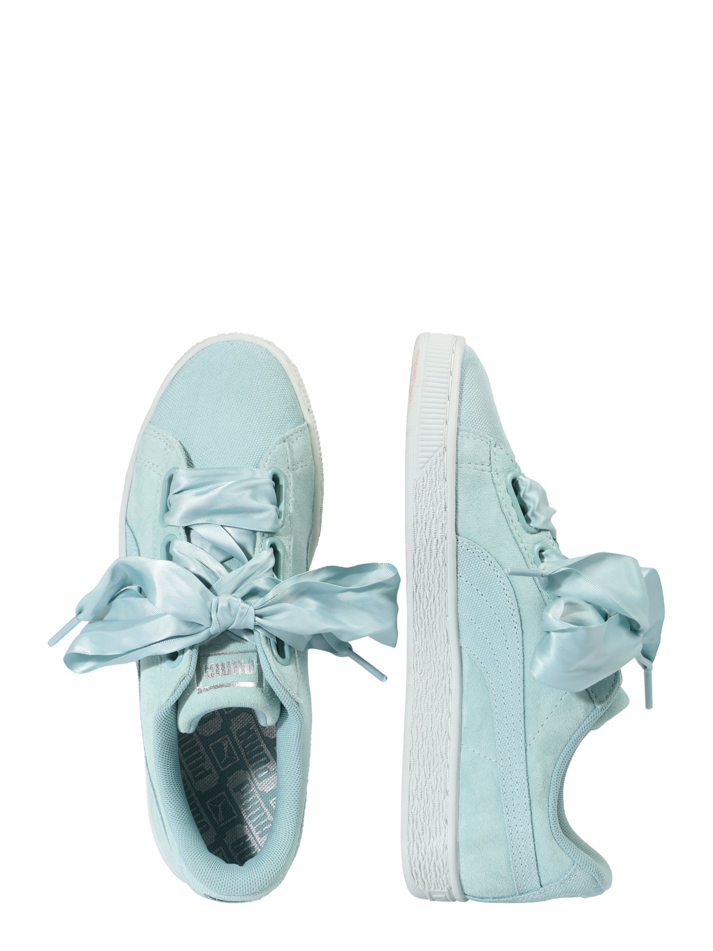 Heart Bleu En Pebble' Puma 'suede Basses Clair Baskets PkXZTwOuli