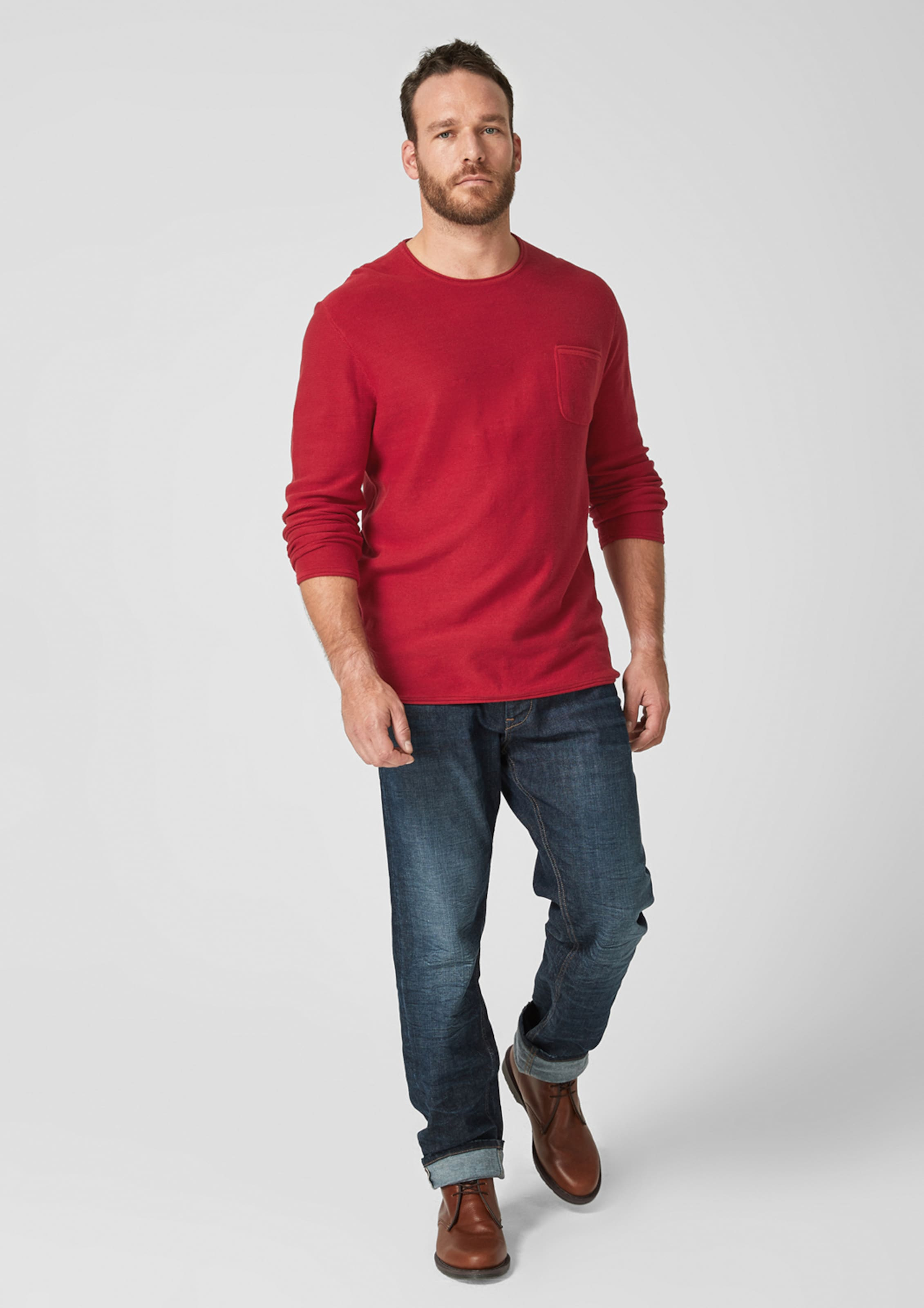 oliver Label In Rot Pullover S Red mO80Nwvn