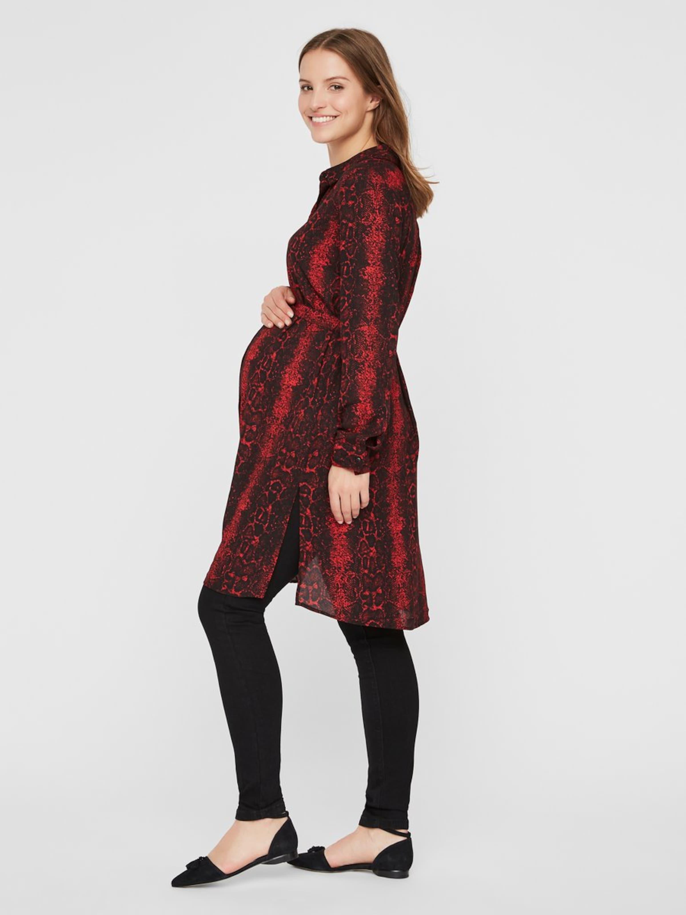 FeuNoir En Robe chemise Rouge Mamalicious bgf6yY7