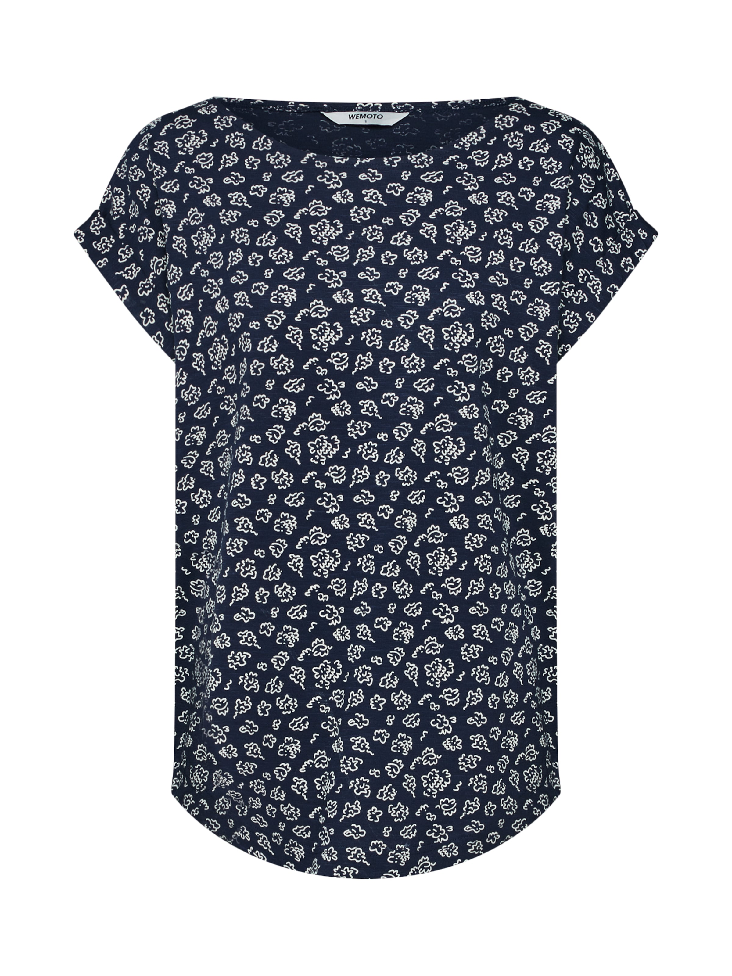T Wemoto En MarineBlanc shirt 'holly' Bleu 3jLq5A4R