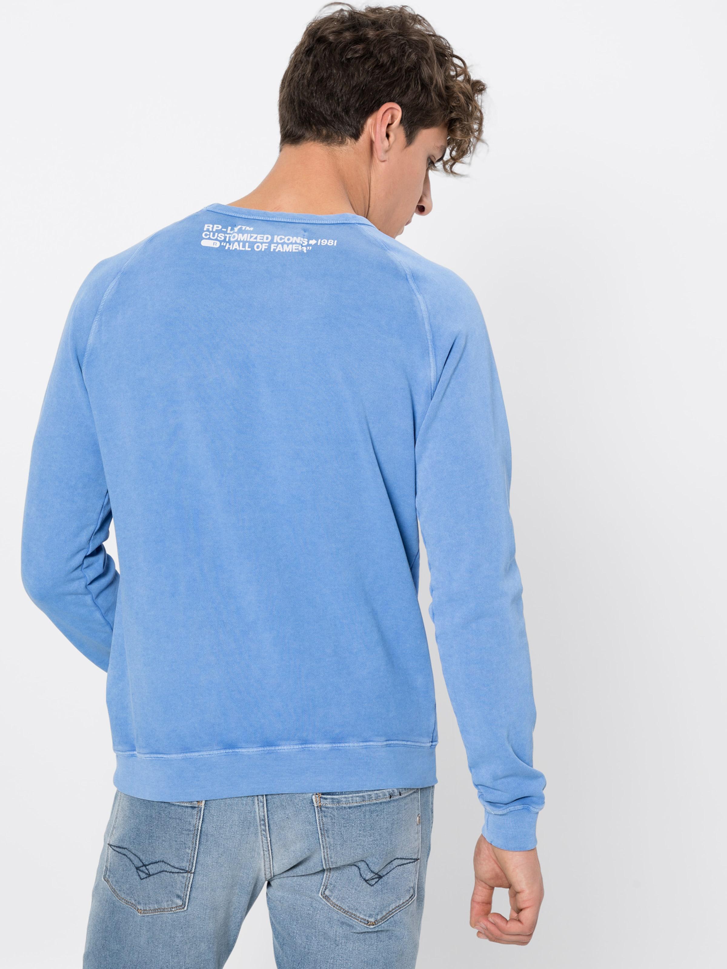 Shirt Bleu En Sweat Replay Wiutlkoxzp bfgyY76v