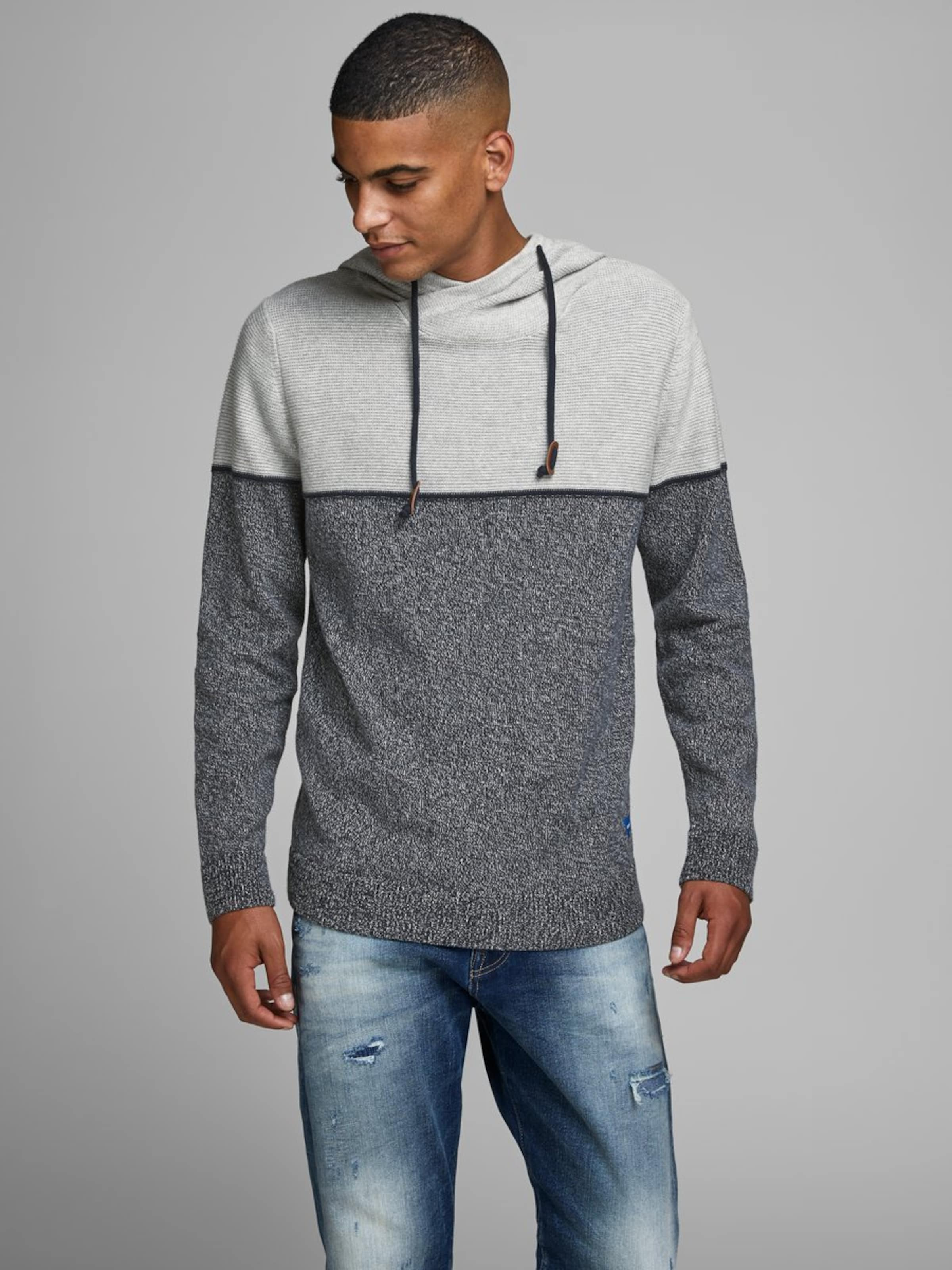 FoncéBordeaux En Sweat Jackamp; 'colourblocking' Bleu shirt Jones 5jSAqRc34L