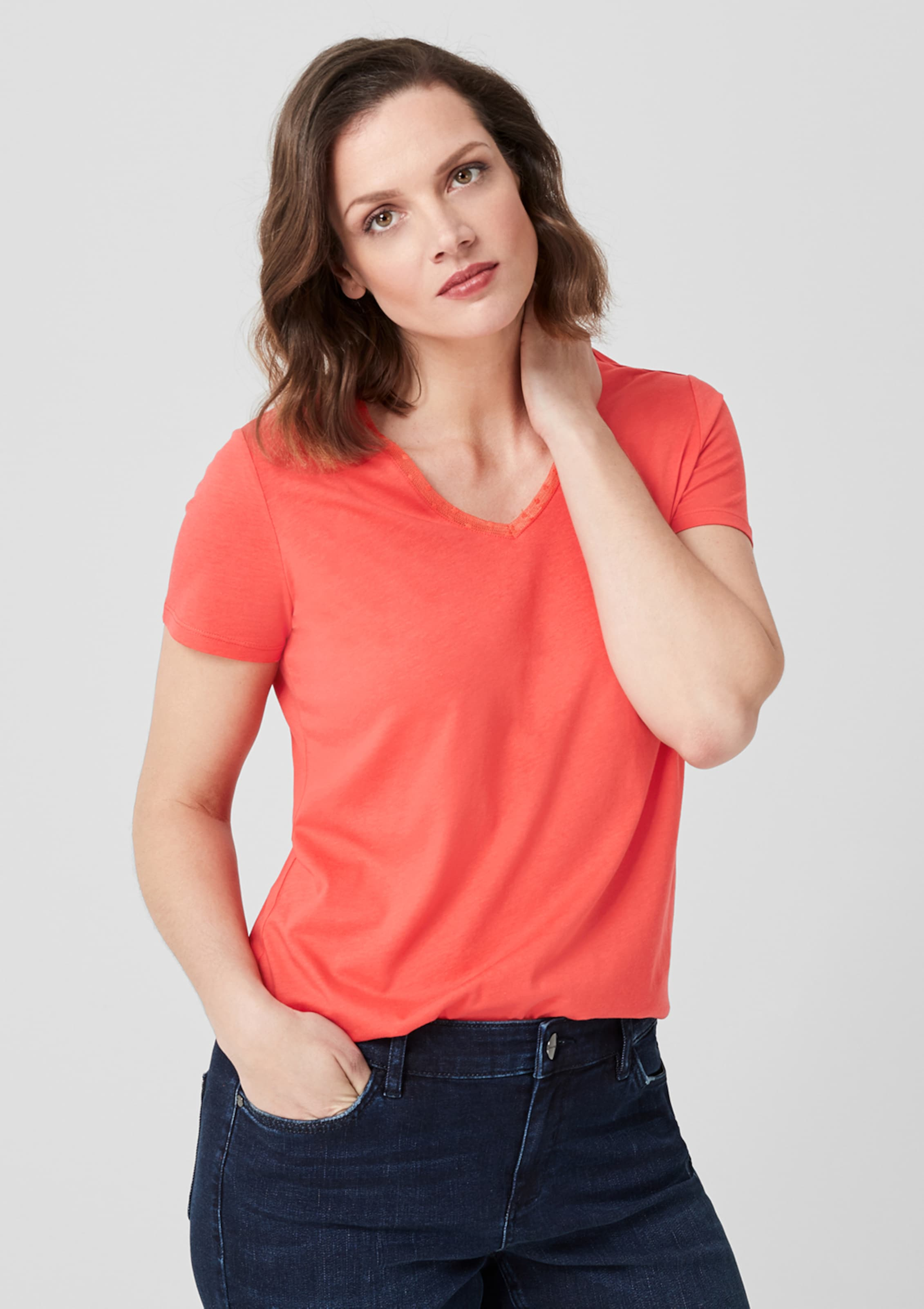 In Orangerot Triangle Triangle Jerseyshirt In Jerseyshirt Triangle Orangerot Triangle In Orangerot Jerseyshirt Y7fb6gy