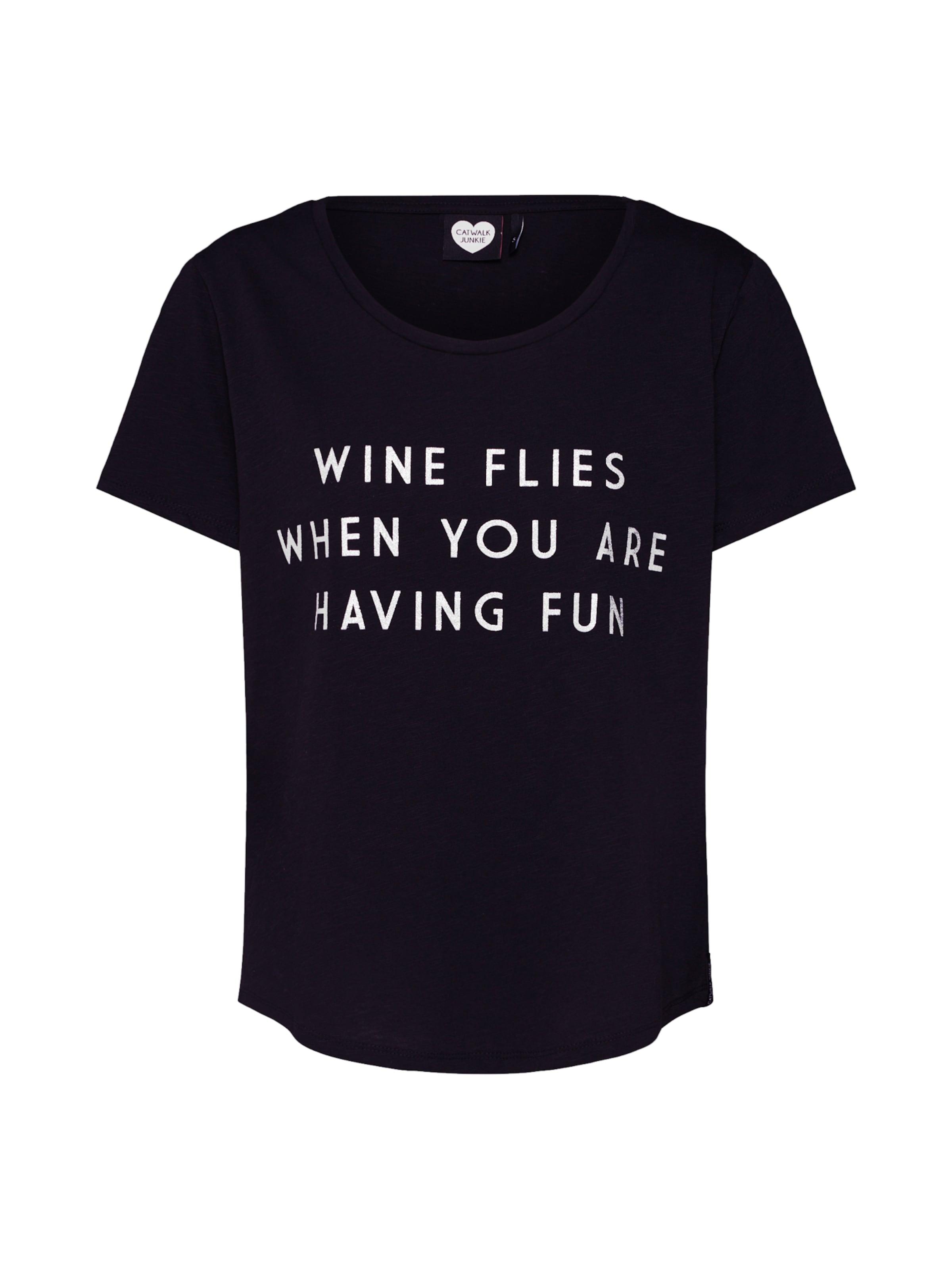 En 'ts shirt Catwalk Junkie Flies' T Wine Noir tsQrdhC