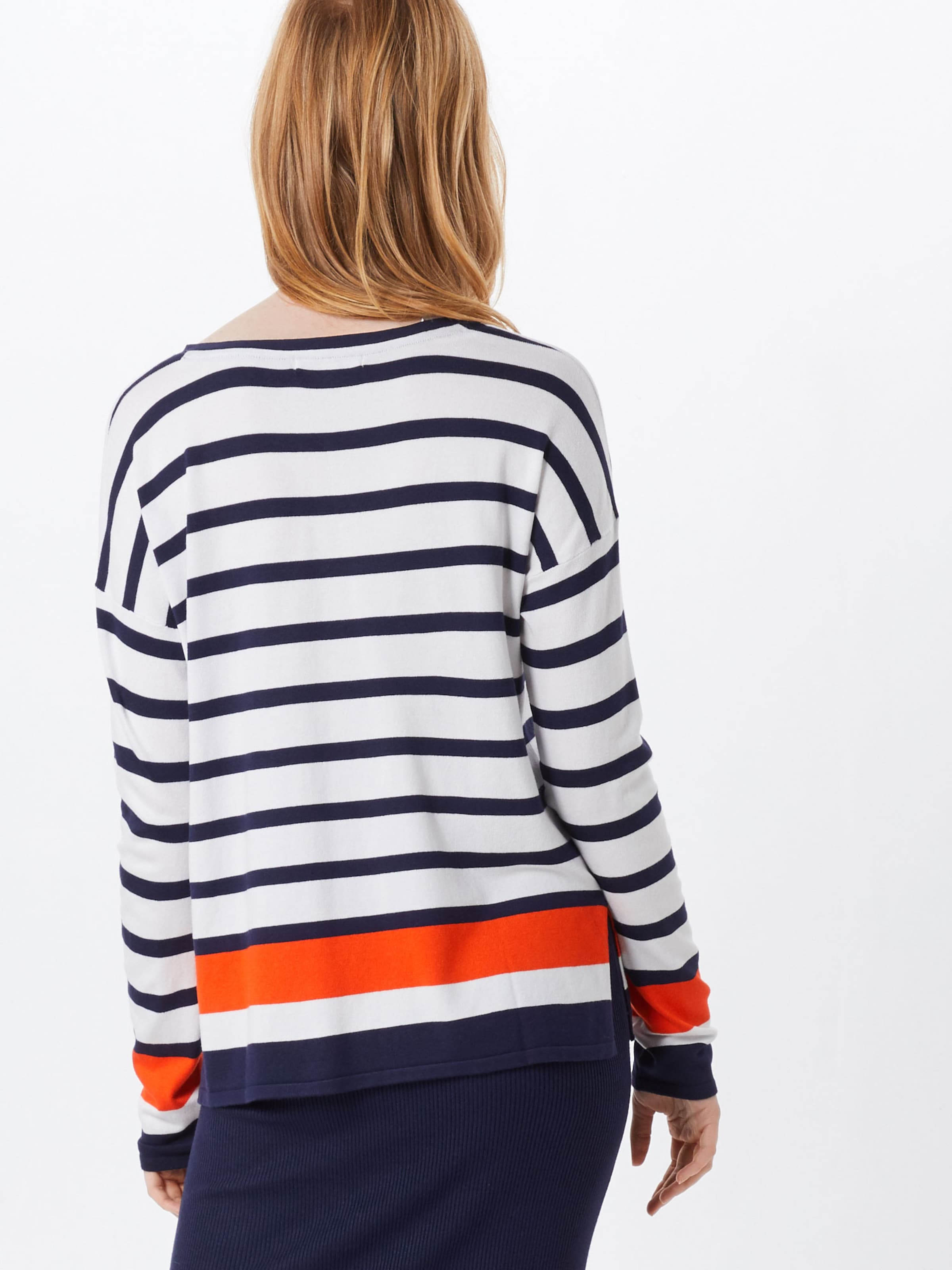 Tailor Blanc Pull Denim BleuHomard En Tom over cj3qS54ARL