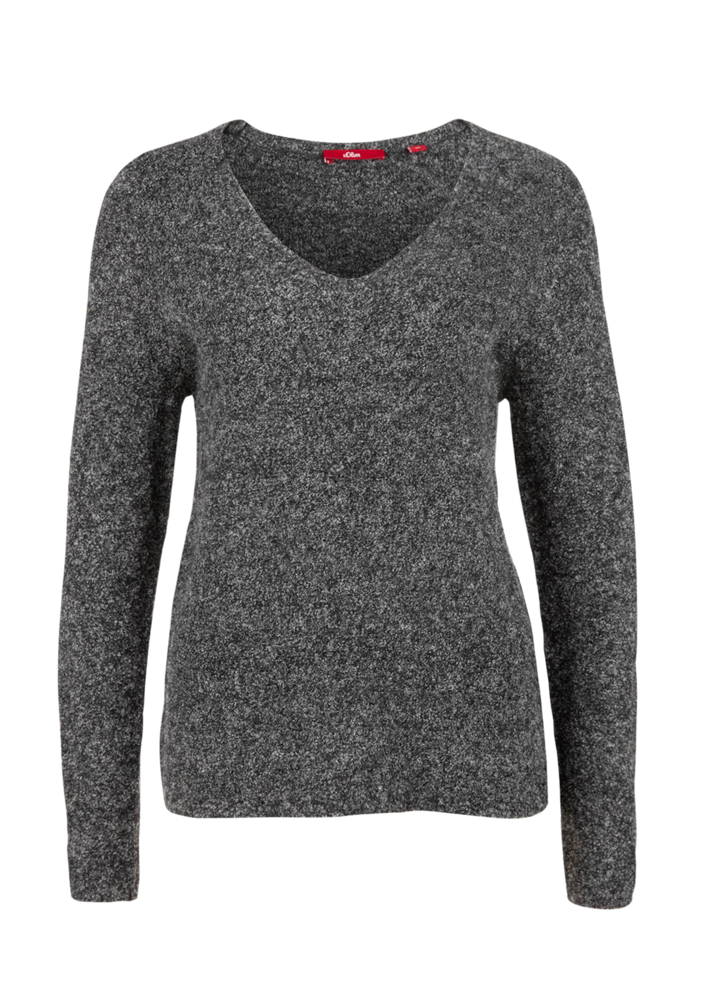 S In oliver Red Label Pullover Schwarzmeliert rCBeQdxoW