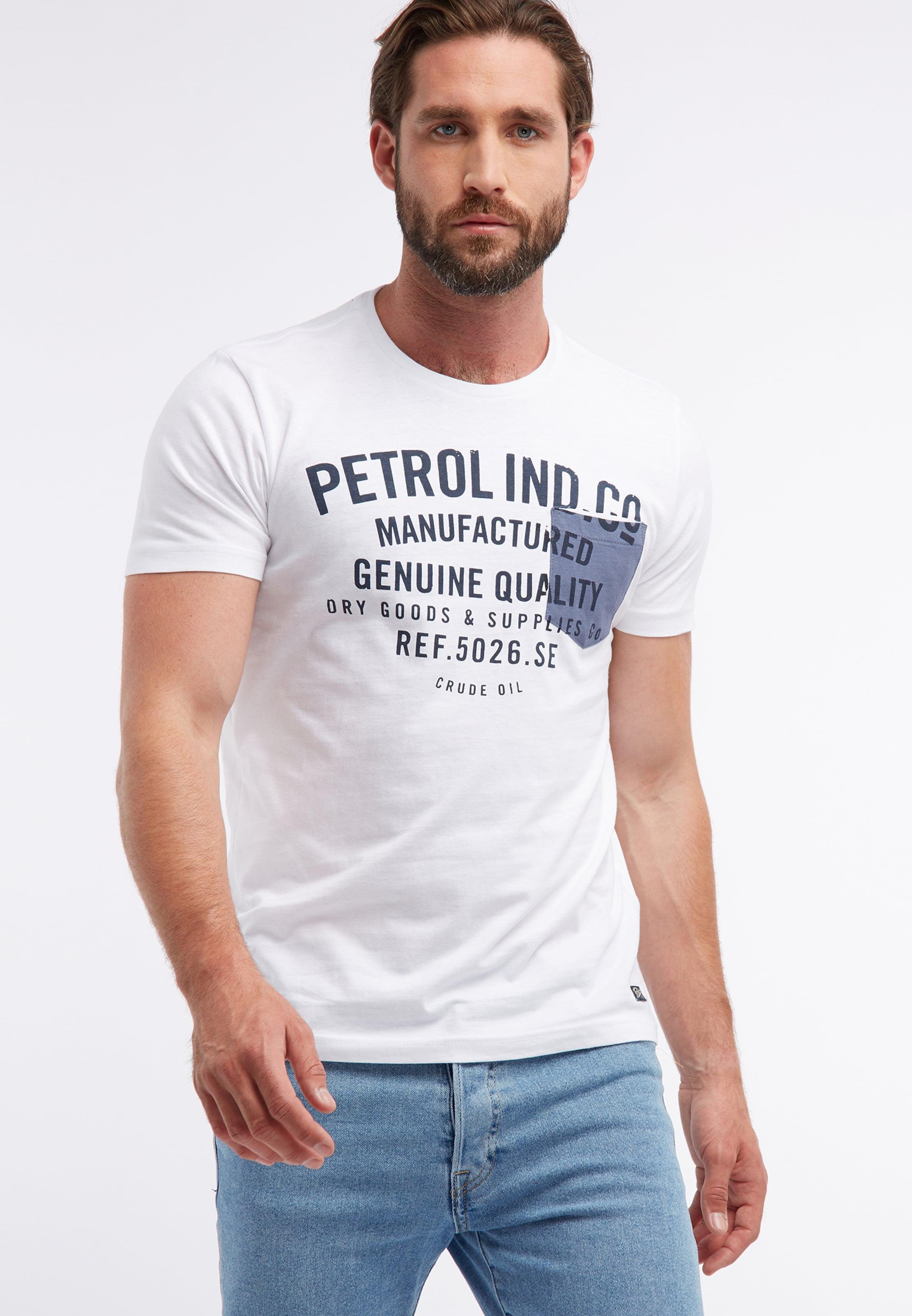 Industries BleuGris Petrol En Rouge shirt Chiné T 0Pn8wkO