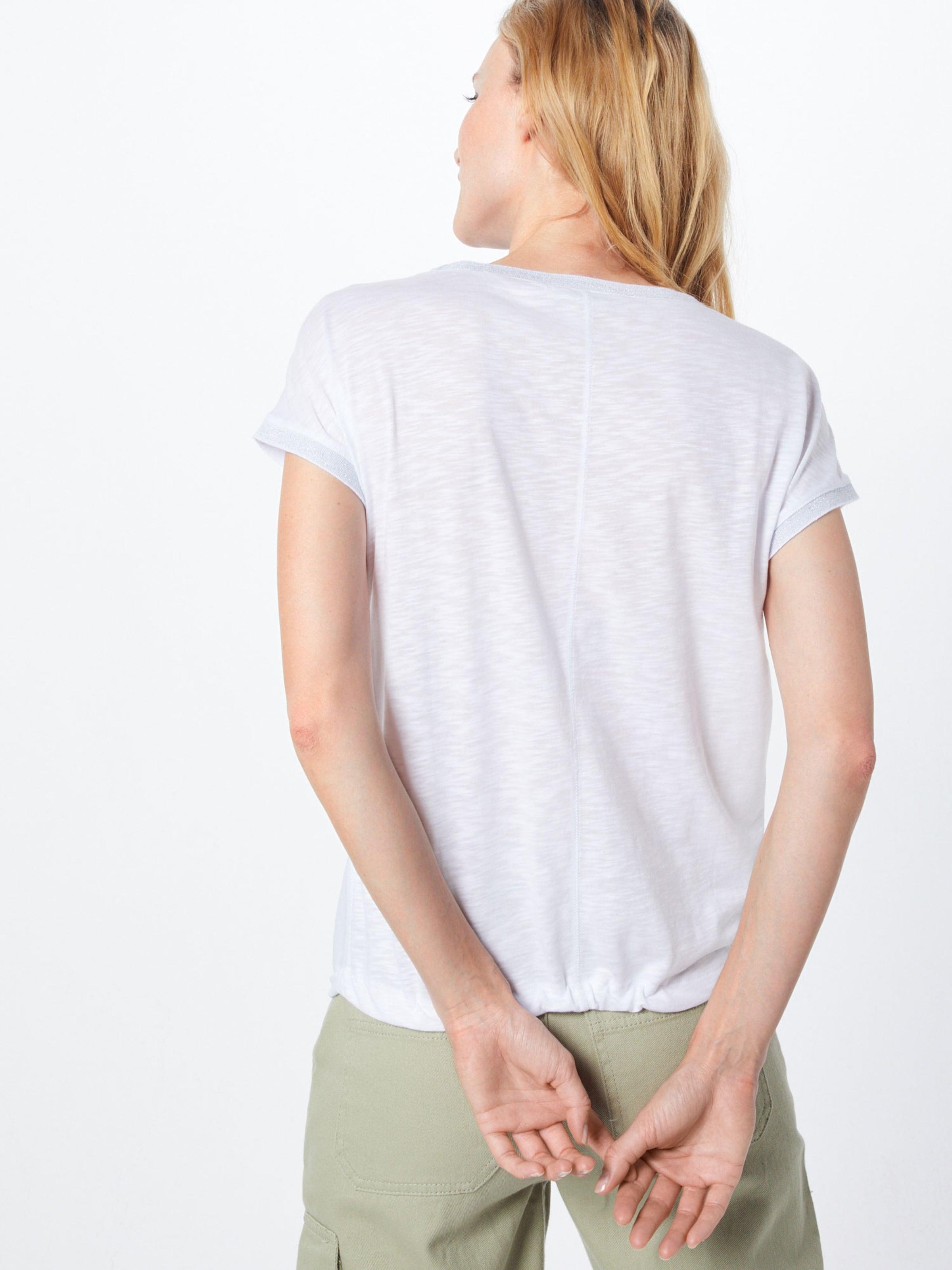 En BleuArgent Monari shirt T Blanc 7byvY6fg