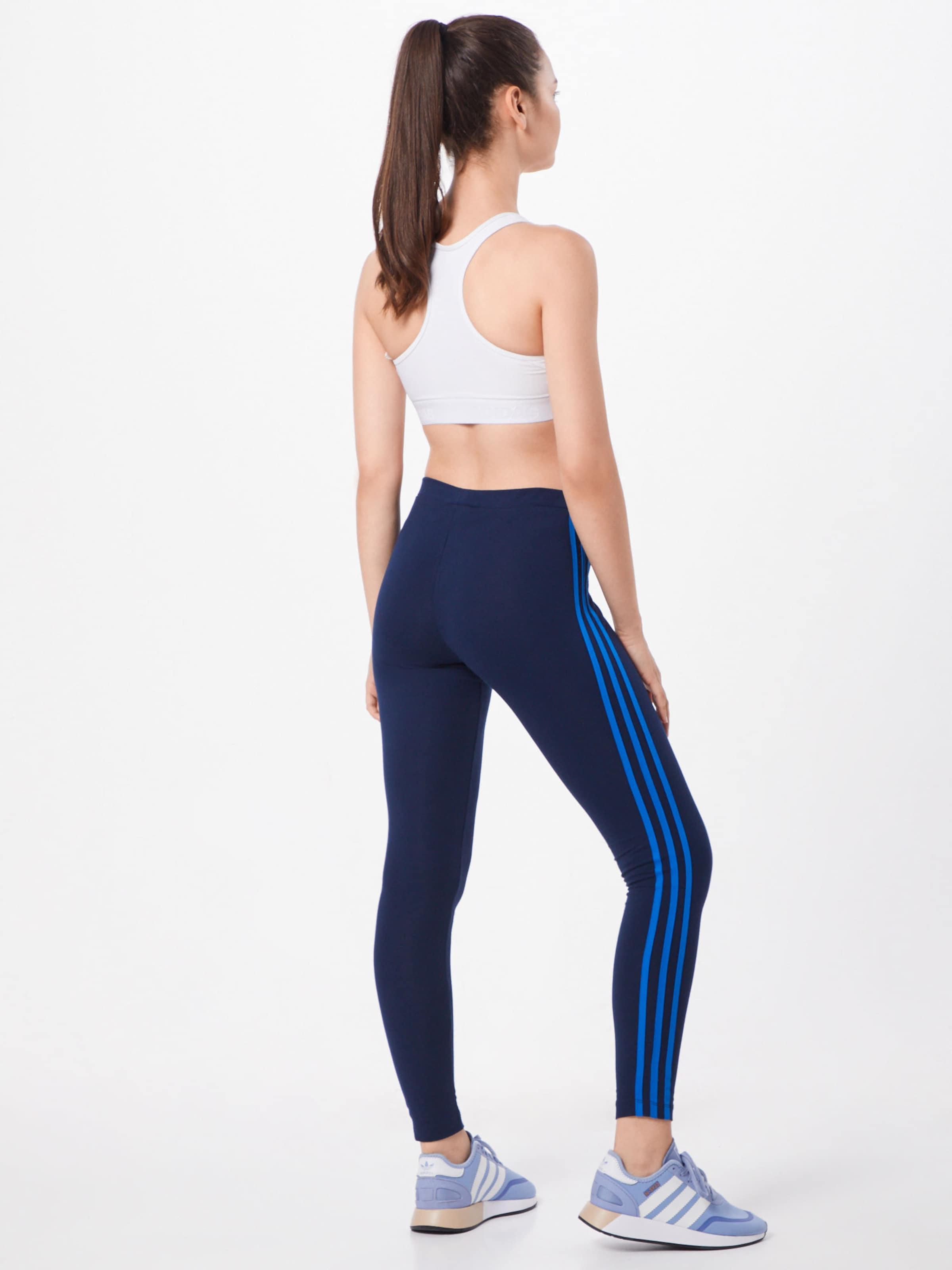 En '3 Leggings Marine Stripes' Bleu Adidas Originals 35LqARj4