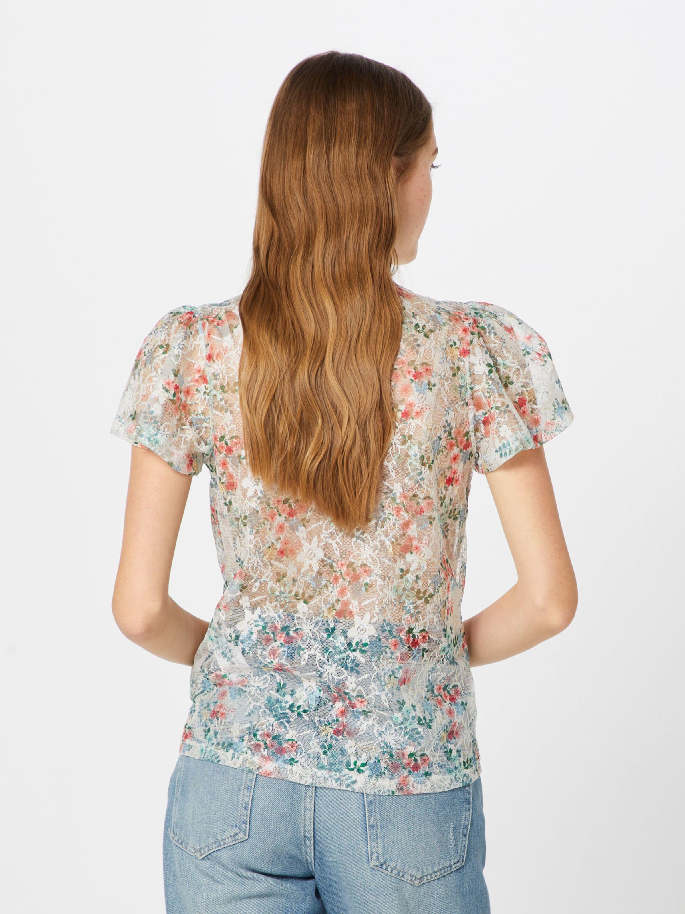 CrèmeMélange Tie De Lace En Ww Printed Front New Look P38' Button Couleurs '18 Thru Chemisier 05 80mwnN