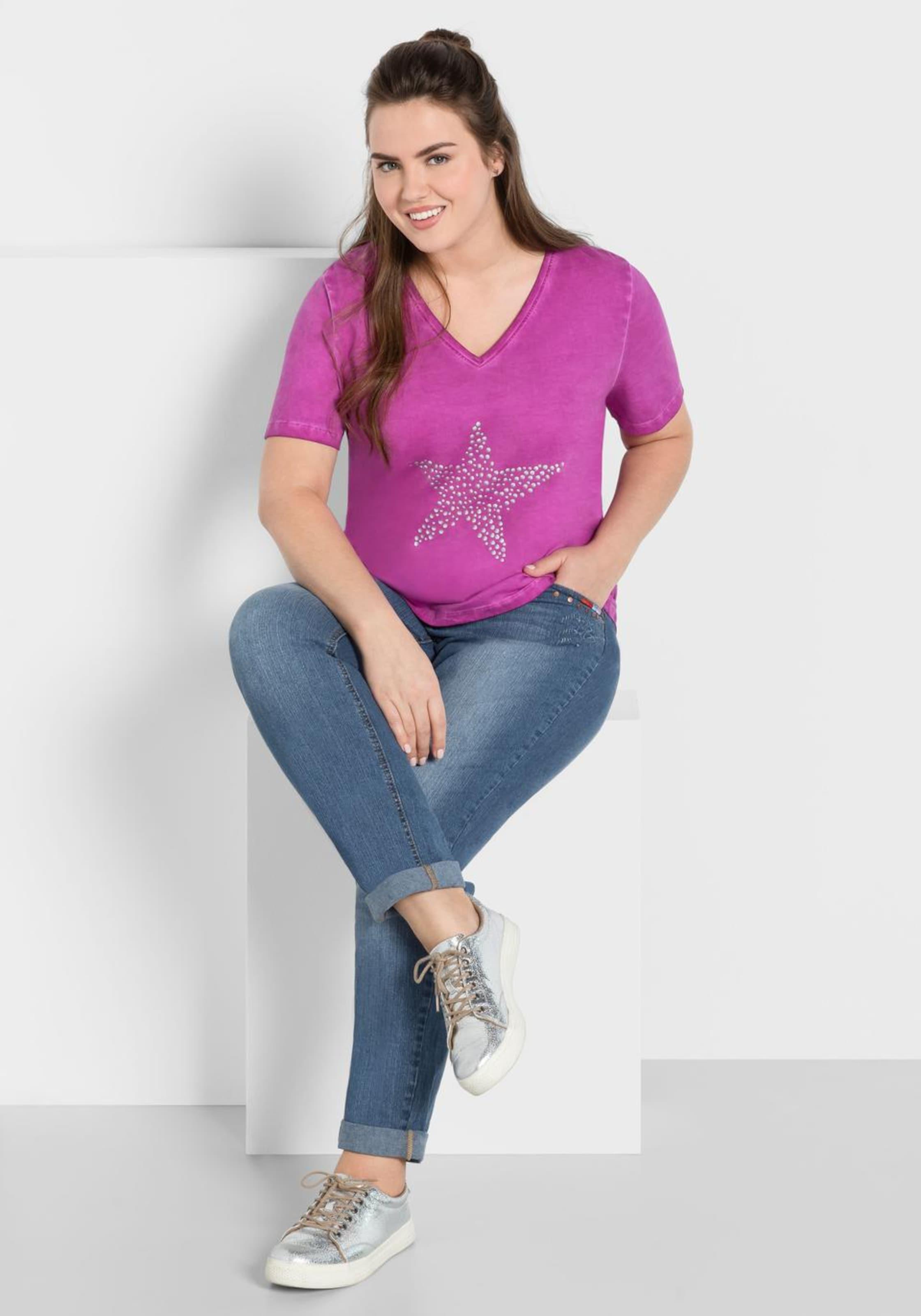 T In Sheego FuchsiaSilber shirt In FuchsiaSilber T Sheego Sheego shirt nwZkP0N8OX