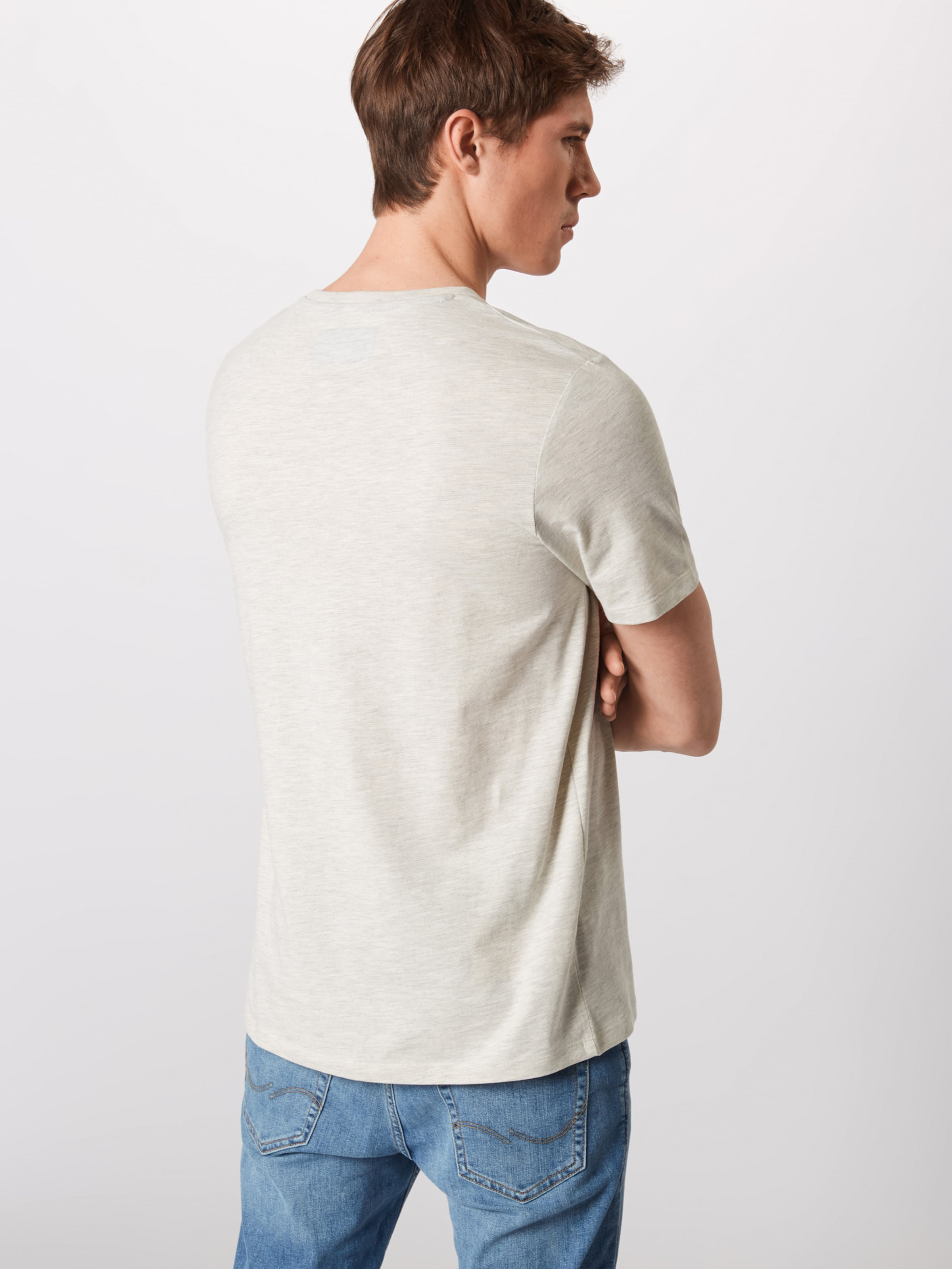 Jackamp; Tee Gris Blanc En 'jcomick Neck' shirt Ss Bleu NuitCiel Jones T Crew lF1JcTK3u5
