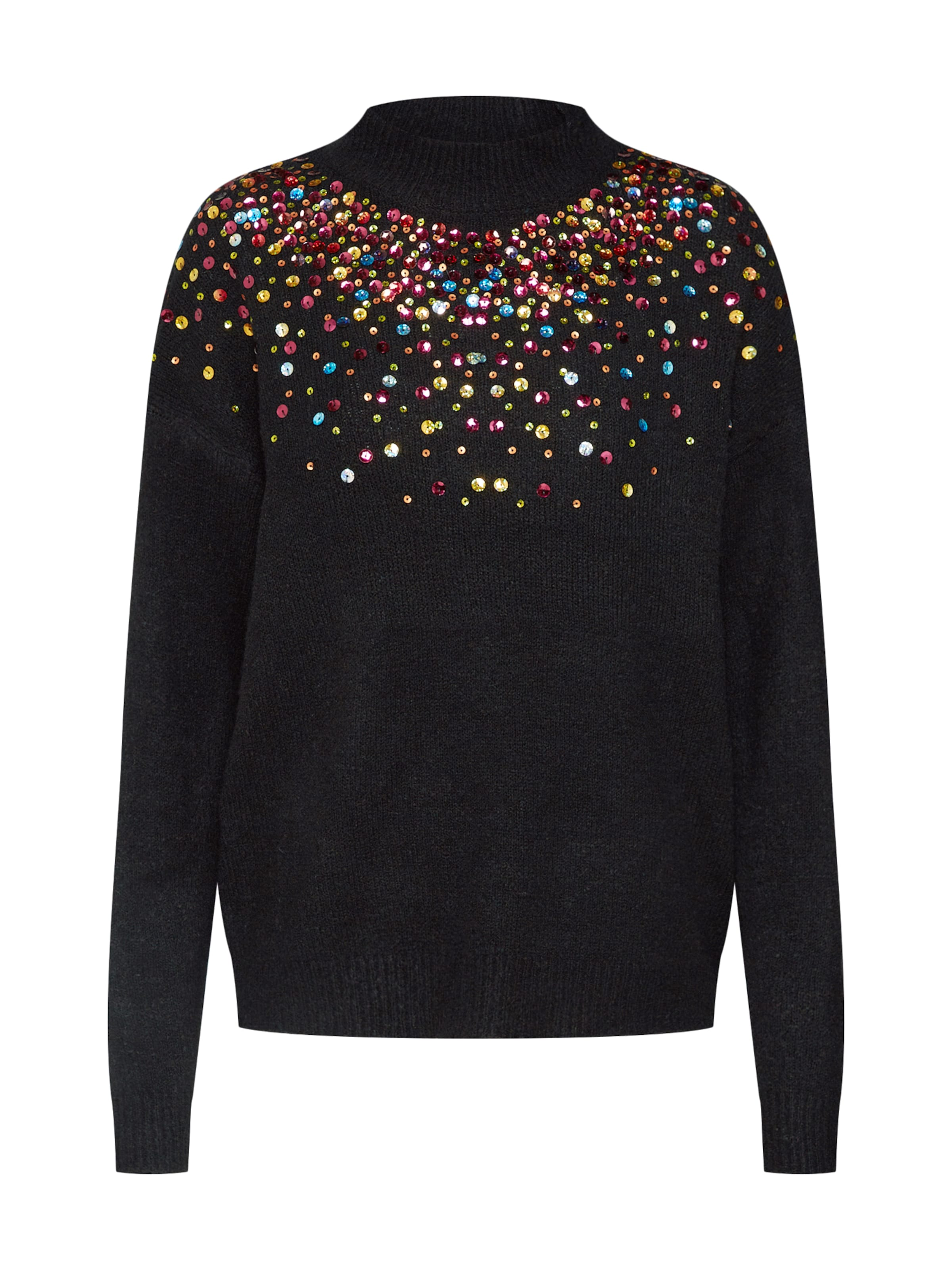 En Mélange over Ls Knit' Pieces Pull CouleursNoir De 'pcsally Sequin mvN0w8n