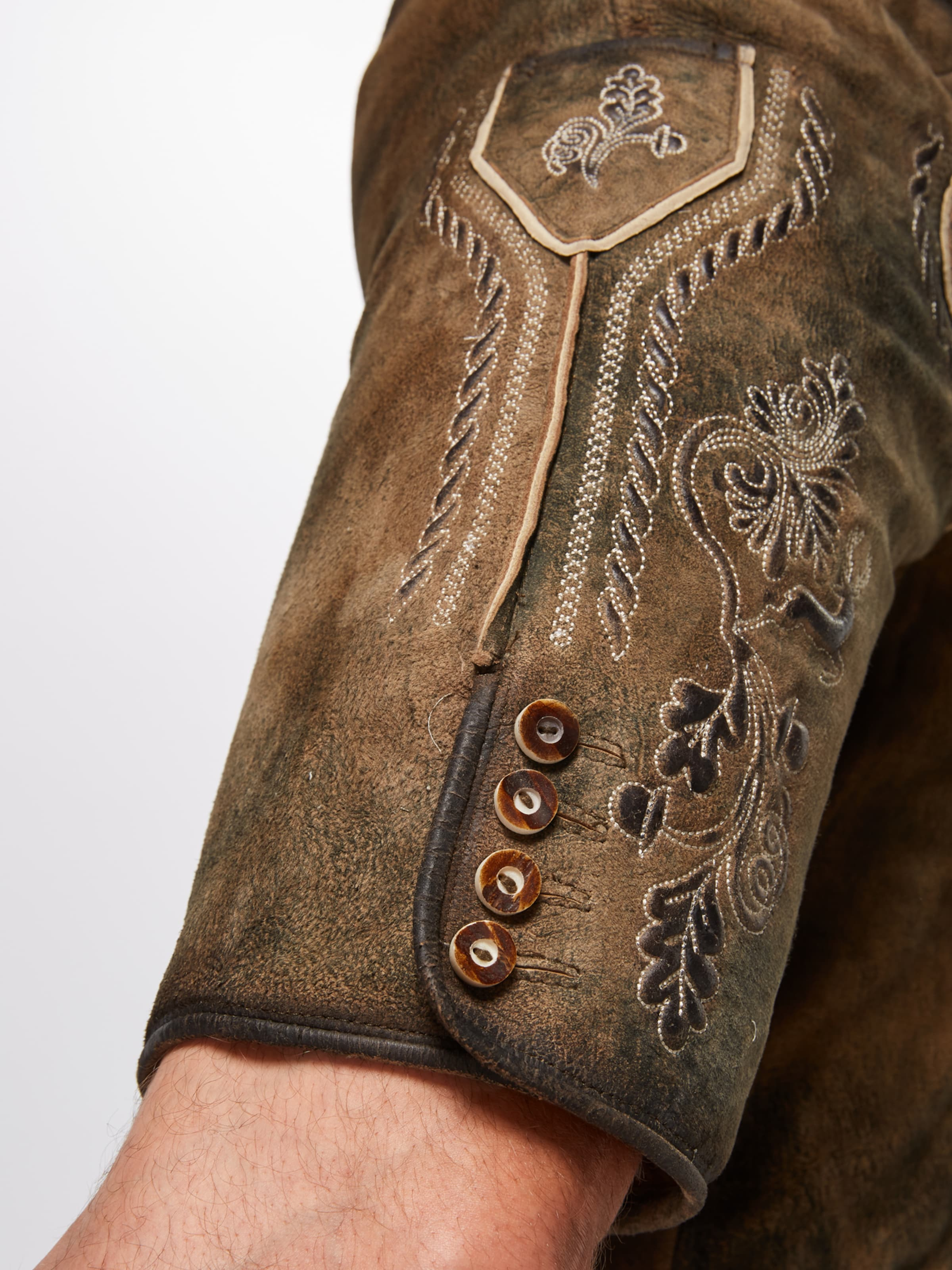 Pantalon En 'henry Marjo InklGürtel' Marron Folklorique uTc1l35KJF