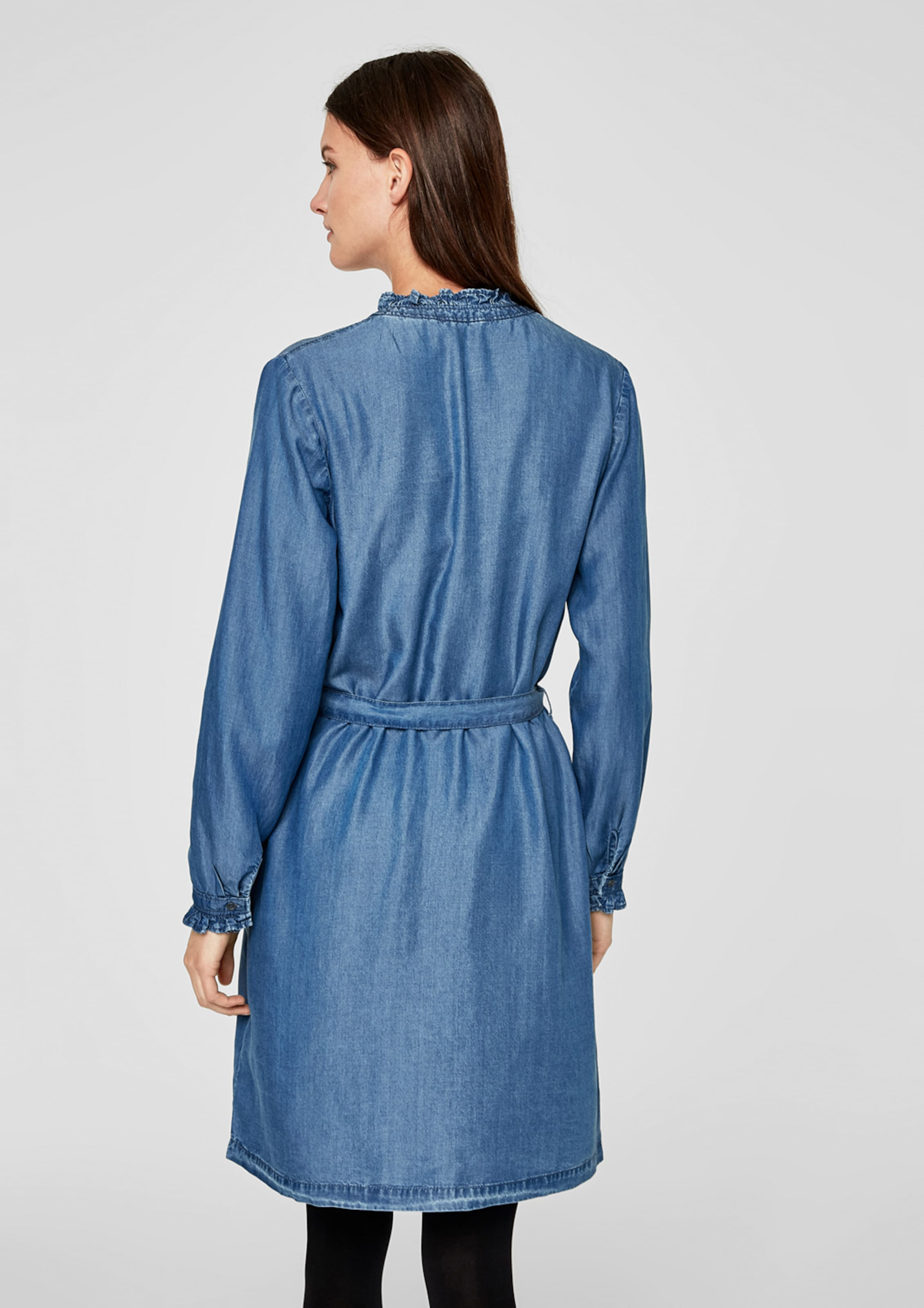 oliver Blue Red Denim Kleid In S Label rdCxoeBQWE