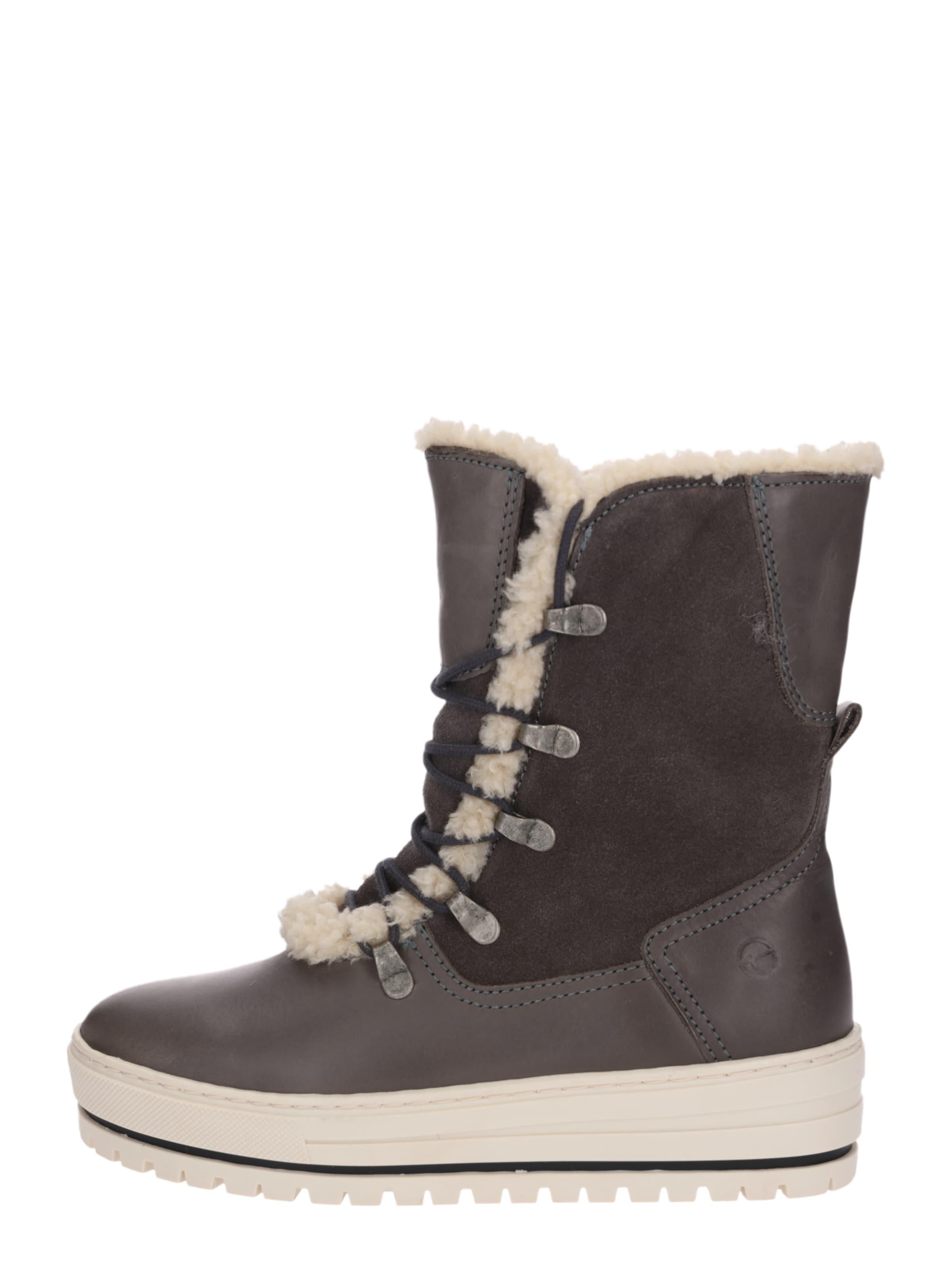TAMARIS Stiefel 'Snowboots' taupe