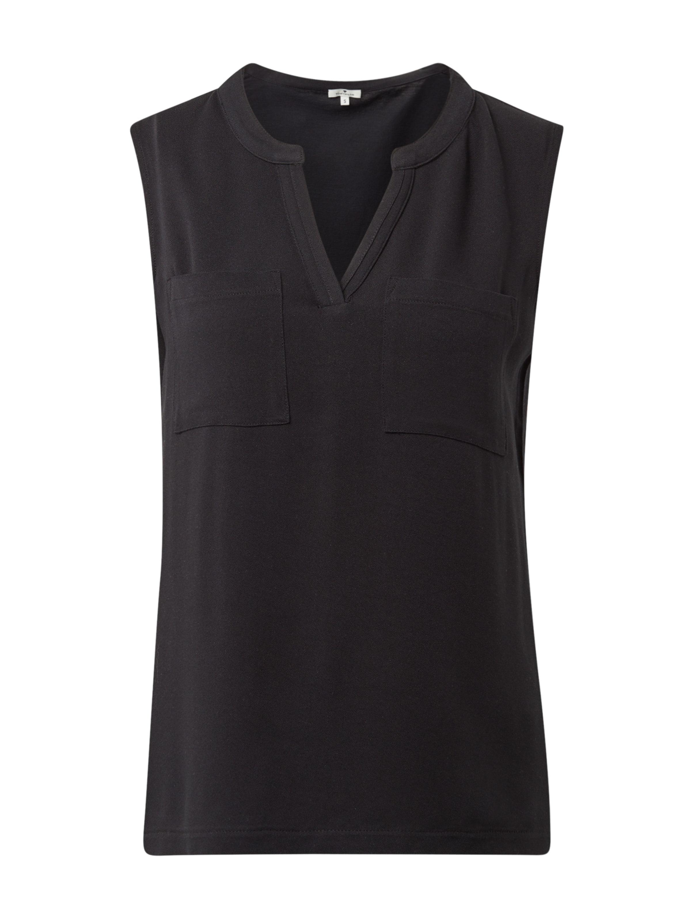Mit In Top Tom T Taschen shirt Tailor Schwarz bY7yf6gIv
