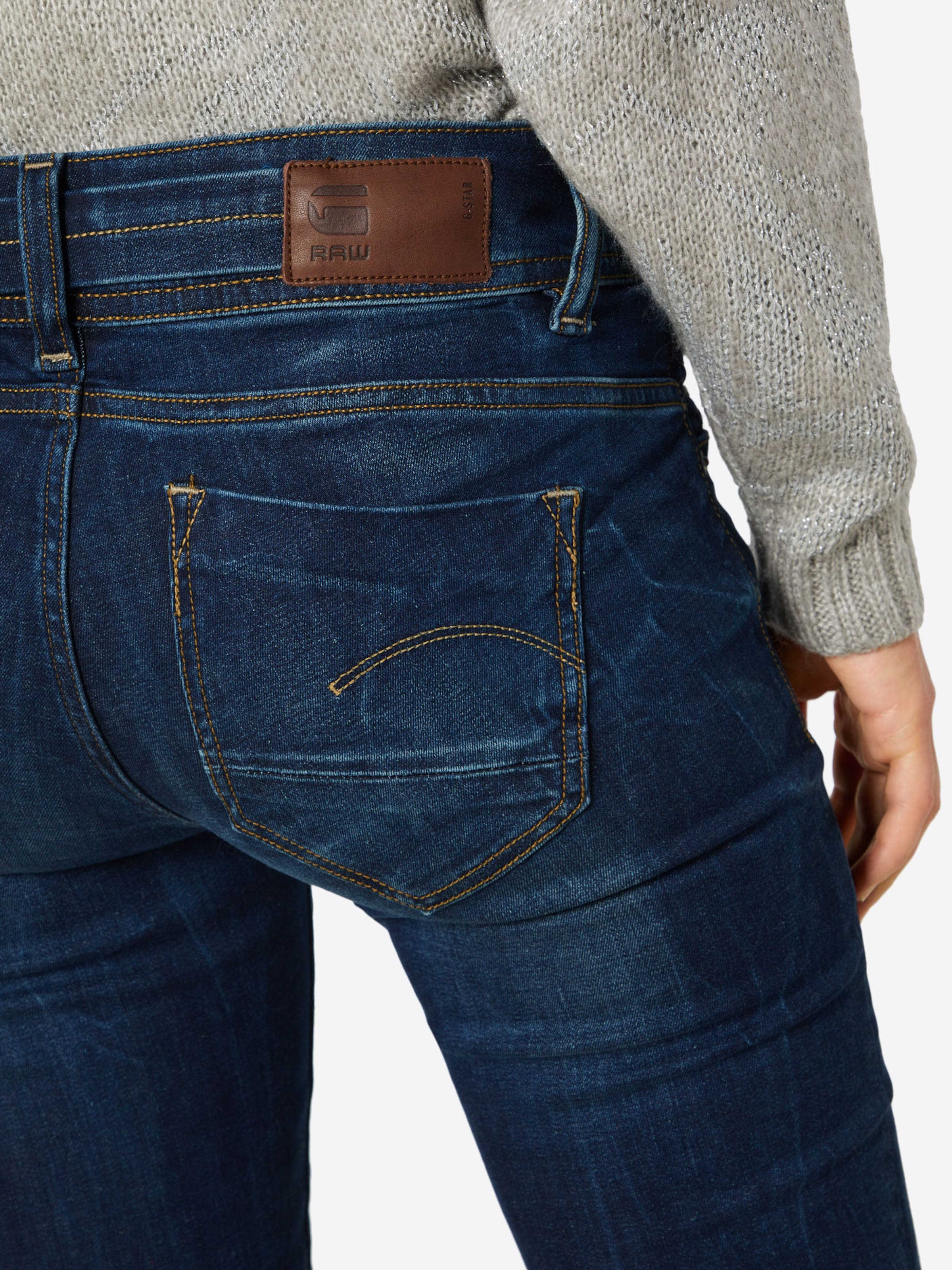 star Mid Saddle Bootleg' Raw In G 'midge Jeans Blau dhsQtrC