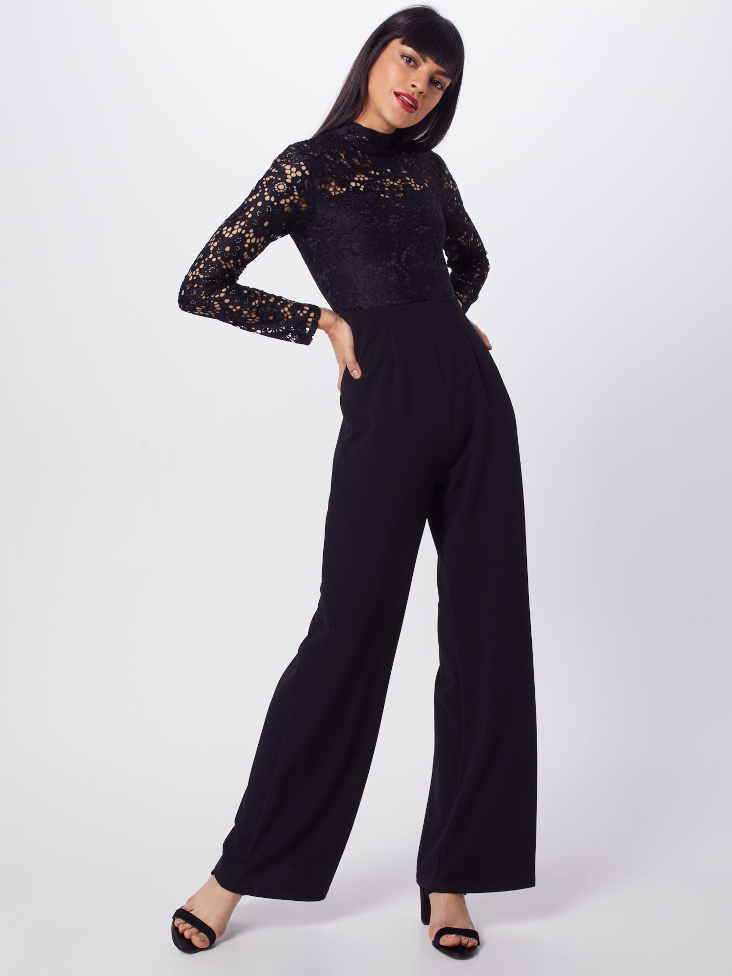 Jumpsuit' Missguided En Long Sleeved Top Noir 'lace Combinaison 3ALq5j4cR