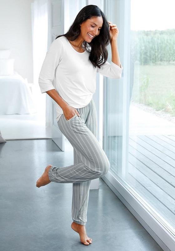 LASCANA Pyjama in hellgrau