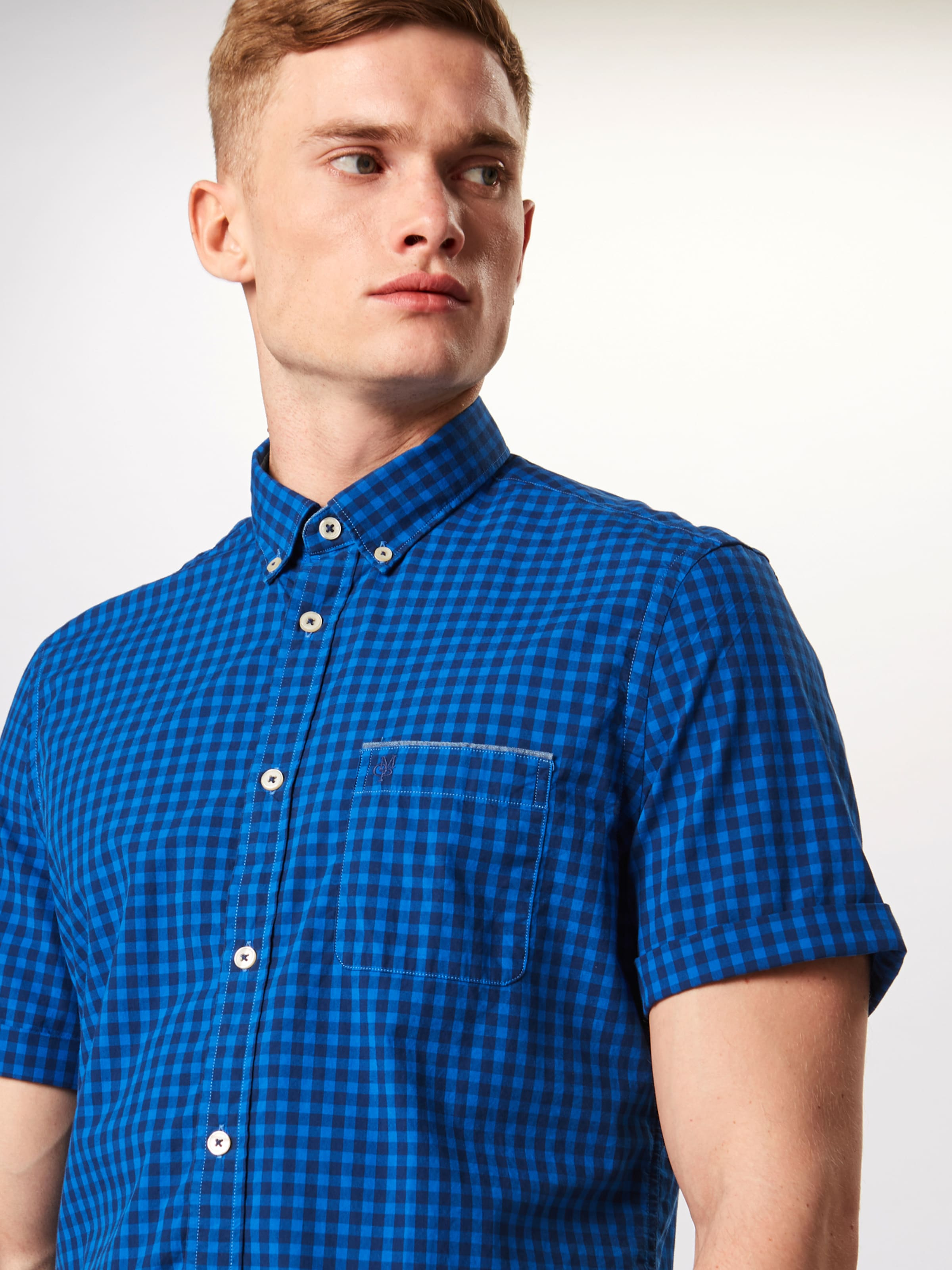 Bleu Sleeve' blouses En Marc Chemise Short 'shirts O'polo nk0Z8ONXwP
