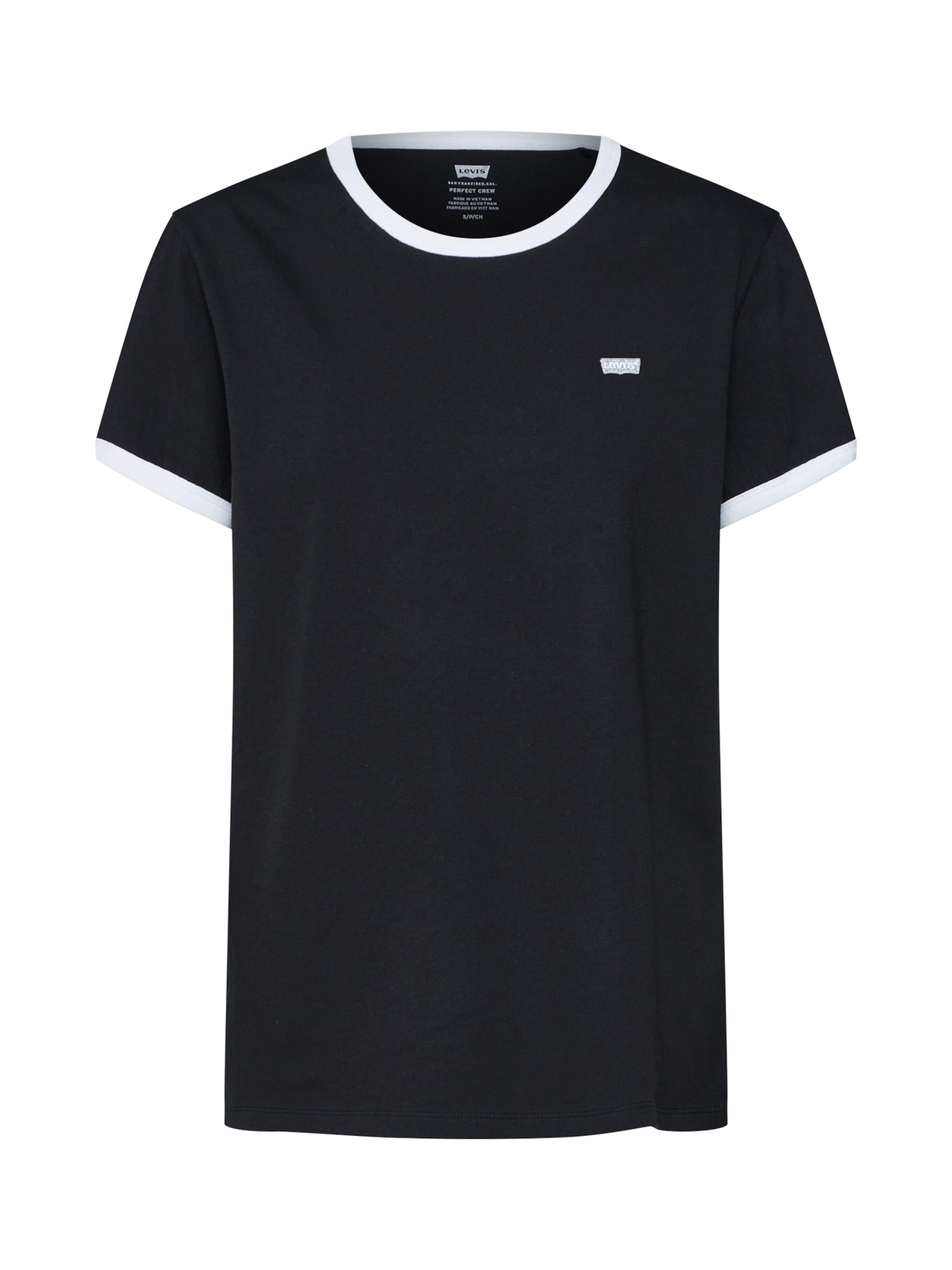 Ringer' 'perf Non gaphic Shirt Levi's In SchwarzWeiß WD29HEIY