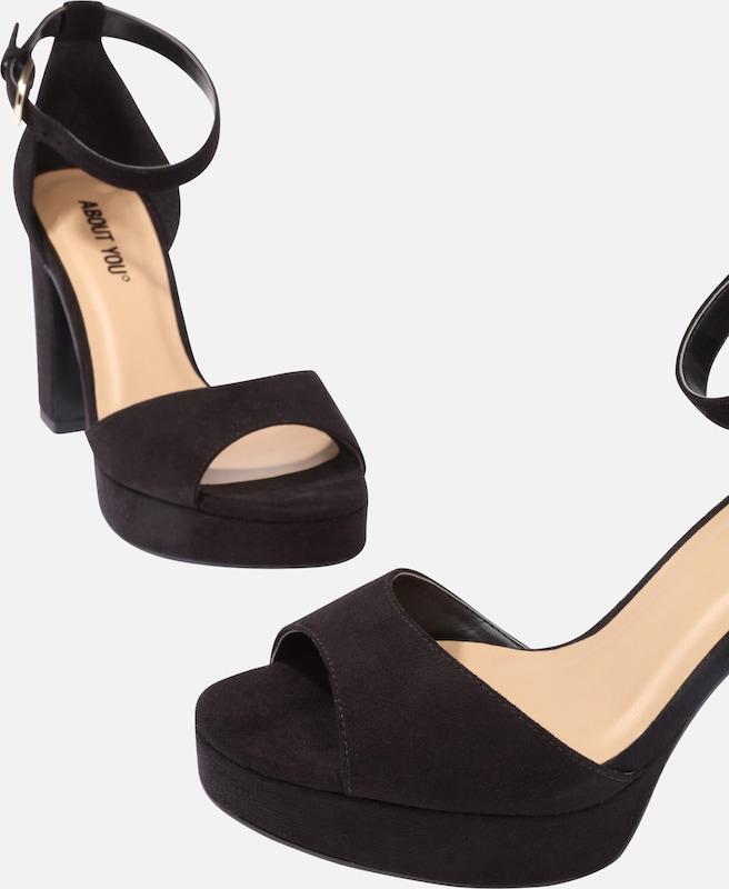 Sandales Lanières À Noir En 'caitriona' PwZiuOTXk