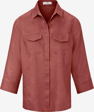 Peter Hahn Bluse aus 100% Leinen in rot, Produktansicht