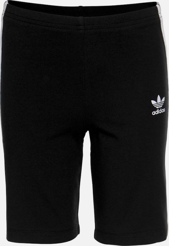ADIDAS ORIGINALS Leggings 'Cycling Shorts' in de kleur Zwart / Wit, Productweergave