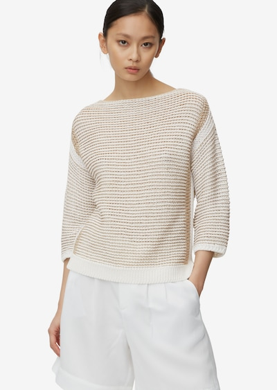 Marc O'Polo Pure Pullover in beige / wollweiß, Modelansicht