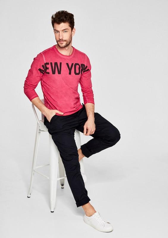 s.Oliver RED LABEL Printshirt in Cold Pigment Dye