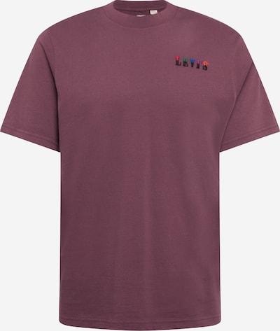LEVI'S T-Shirt in blau / grün / mischfarben / pastellrot / schwarz: Frontalansicht
