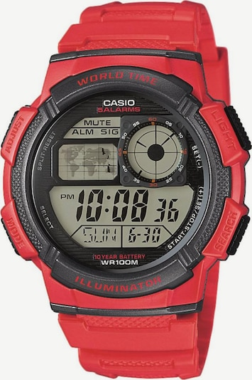 CASIO Collection Chronograph in rot, Produktansicht