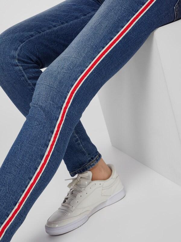OPUS Jeans 'Ely rot stripe' stripe' stripe' in Blau denim   rot  Großer Rabatt 76fa8f