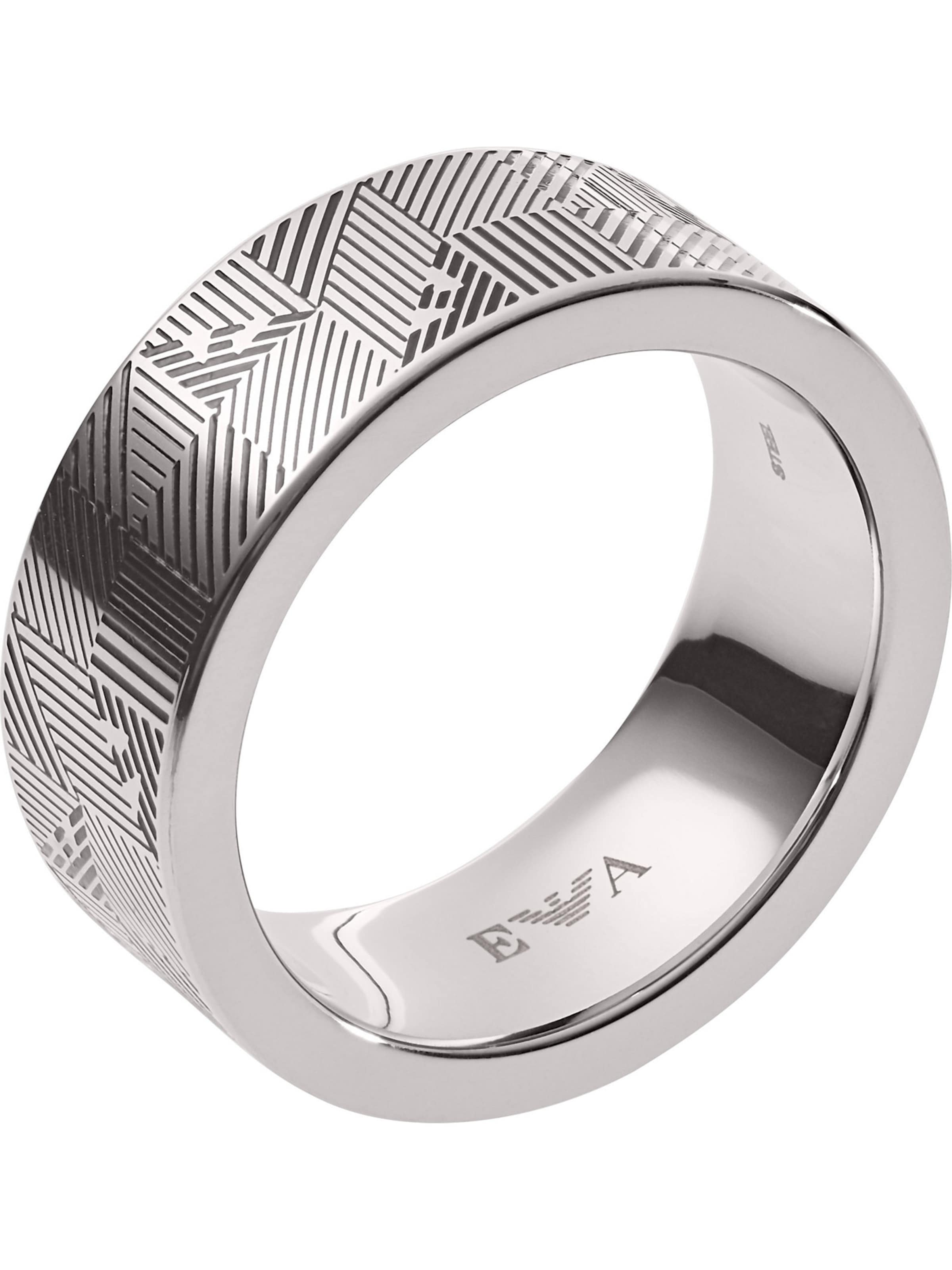 Ring Armani 'egs2508040' SchwarzSilber Emporio In rdtsxQhC