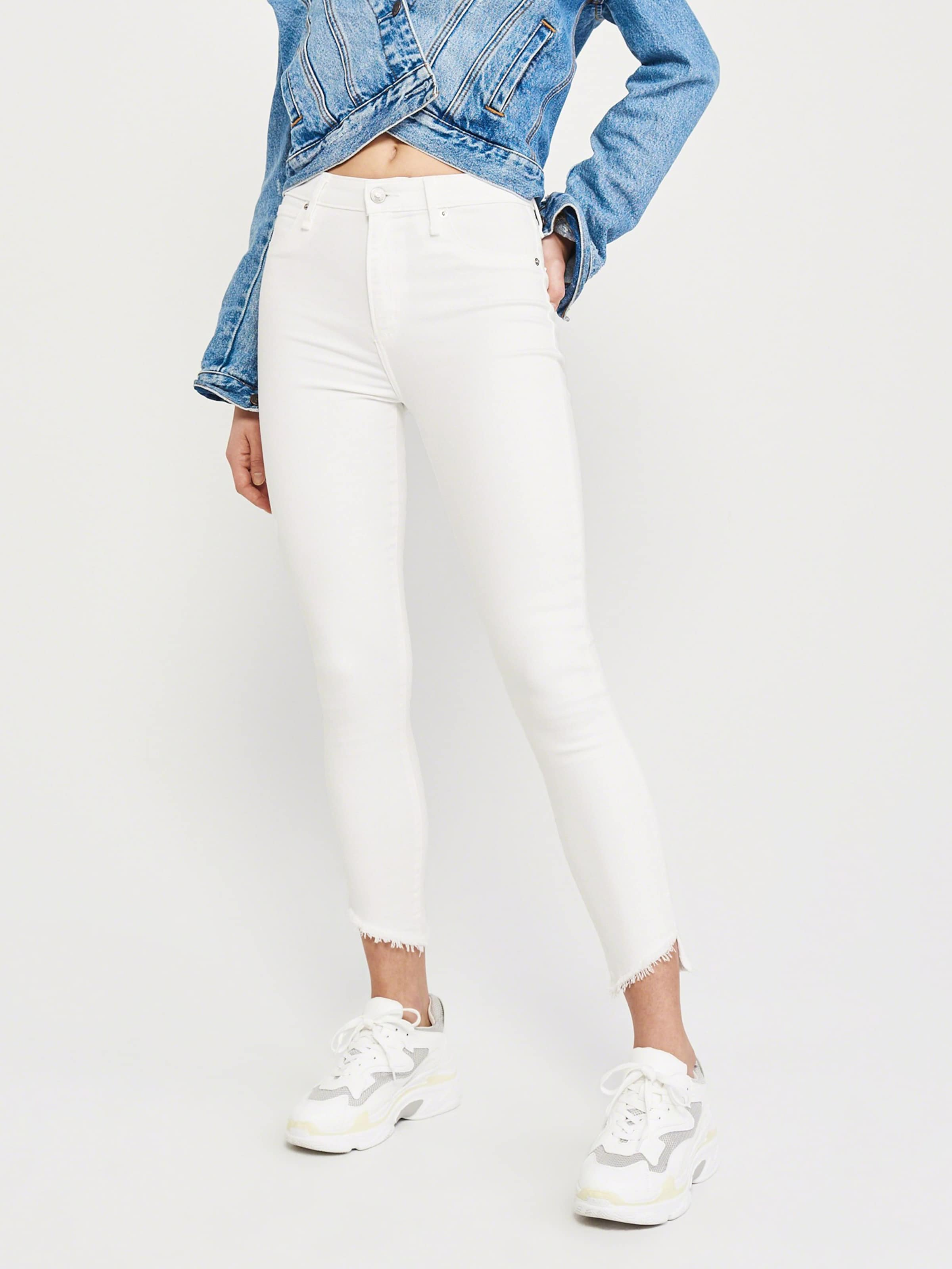 white Abercrombieamp; Hr Weiß 'ld17 Simone In Fitch Jeans Ankle' 1J3FTKcl