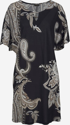 LASCANA Longshirt in beige / braun / schwarz, Produktansicht