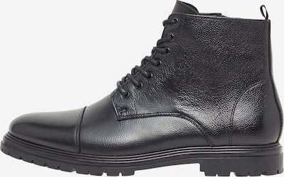Bianco Seitlicher Reißverschluss Lederstiefel in schwarz, Produktansicht