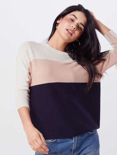 ONLY Pullover 'Regitze' in blau / rosa / weiß, Modelansicht