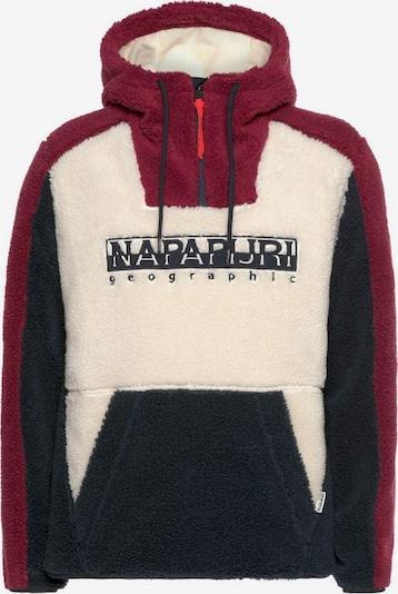 NAPAPIJRI Sweatshirt in dunkelblau / dunkelrot / weiß, Produktansicht