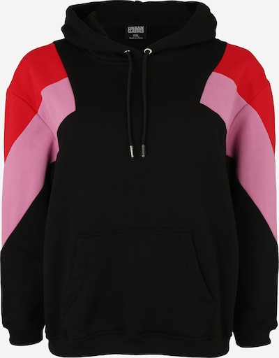 Urban Classics Sweatshirt in pink / rot / schwarz, Produktansicht