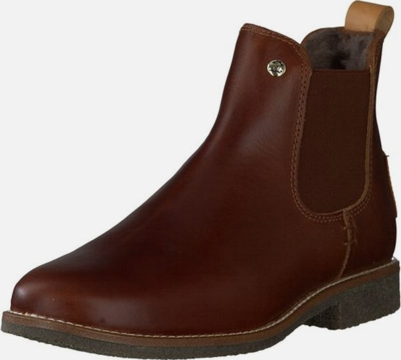 PANAMA JACK Chelsea Boots 'Giordana igloo Travelling' in dunkelbraun: Frontalansicht