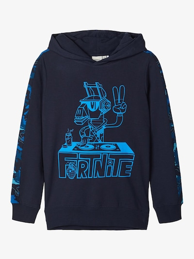 NAME IT Sweatshirt in kobaltblau / cyanblau, Produktansicht