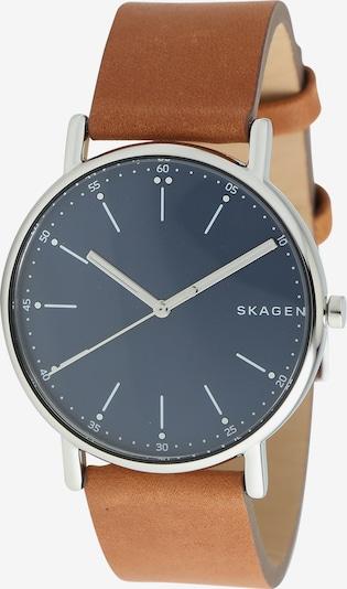 SKAGEN Uhr 'SIGNATUR' in braun / silber, Produktansicht