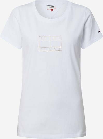 Tommy Jeans Shirt 'TJW METALLIC OUTLINE FLAG TEE' in de kleur Wit, Productweergave