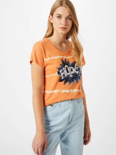Key Largo T-Shirt 'T FESTIVAL' in dunkelblau / orange / weiß: Frontalansicht